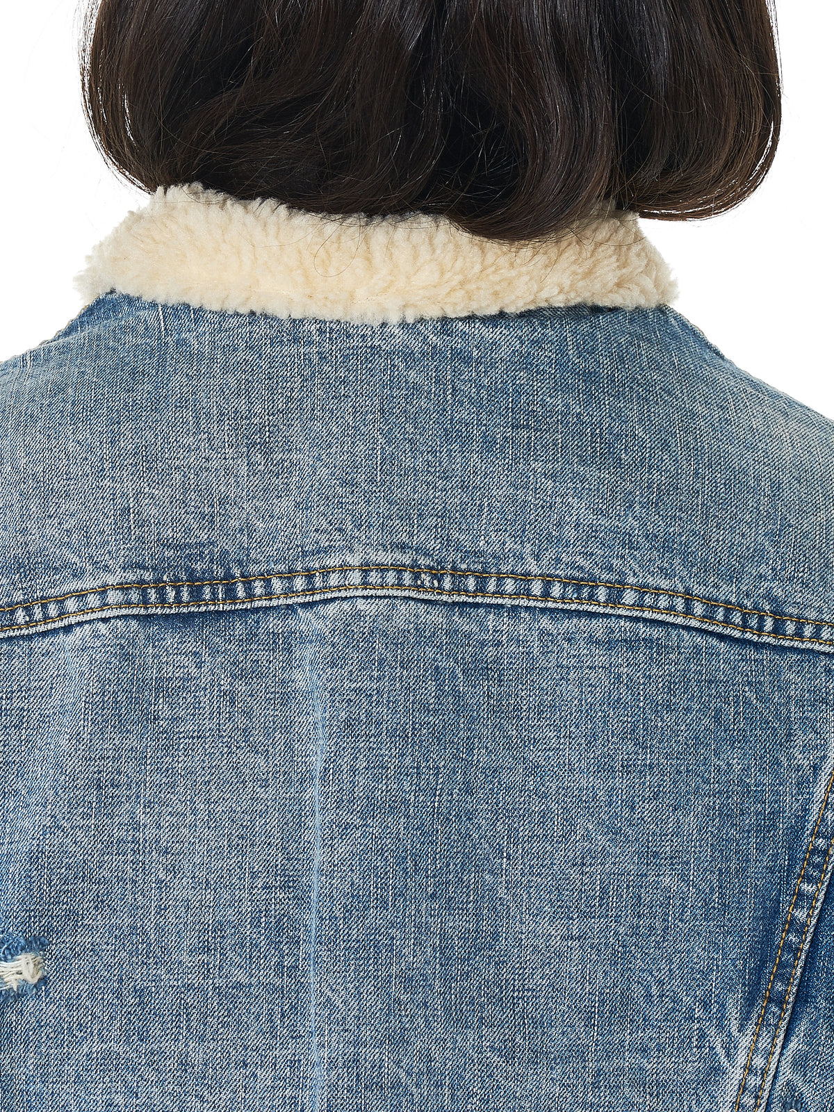 R13 Shearling Denim Jacket - Hlorenzo Detail 2