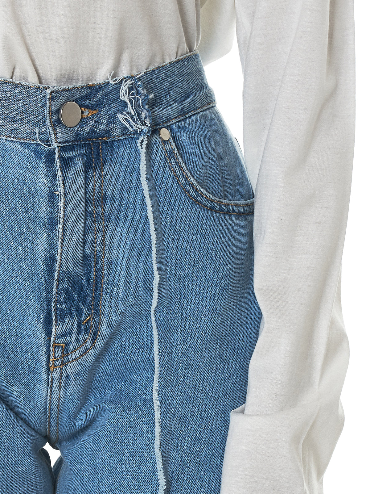 Rokh Cropped Jeans - Hlorenzo Detail 2