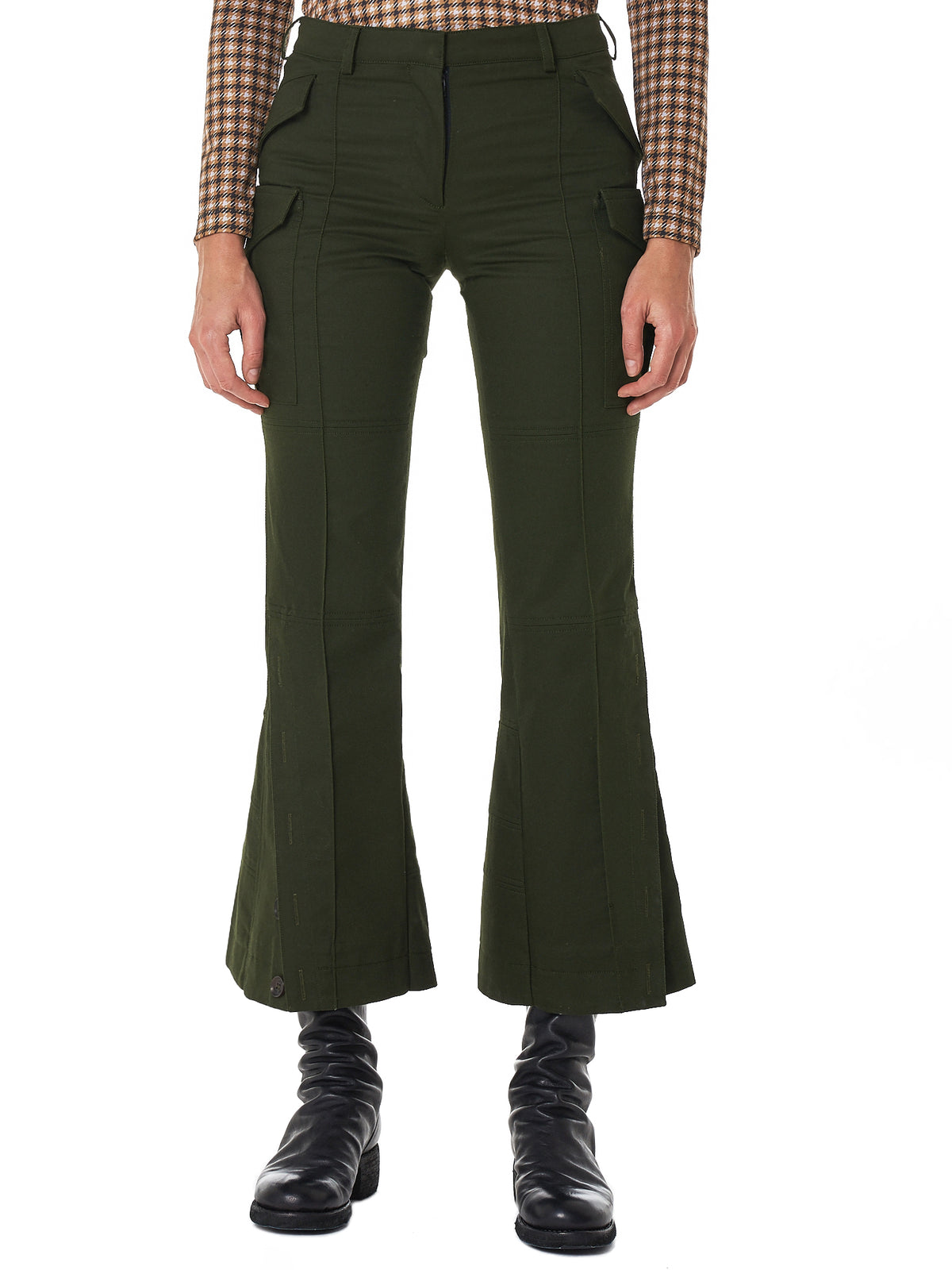 Articulated Cargo Trousers (R1CA34-CT-DARK-GREEN)