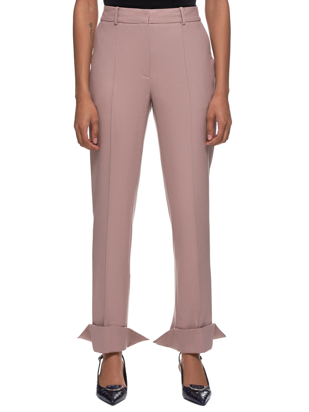 Split Hem Trousers (R1CA36-WM-ASH-PINK)