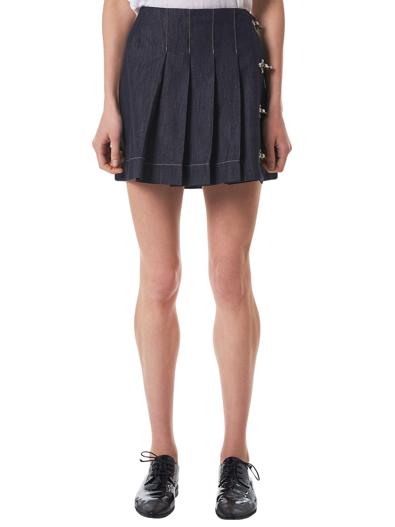 Rokh Denim Skirt - Hlorenzo Front