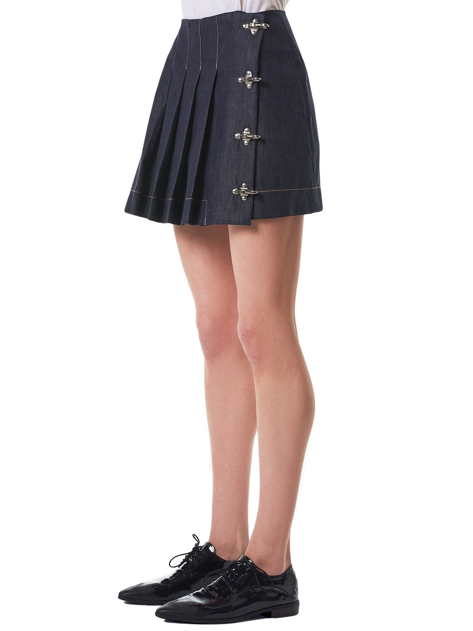 Rokh Denim Skirt - Hlorenzo Side