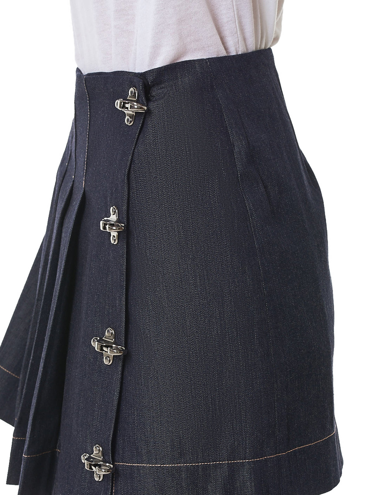 Rokh Denim Skirt - Hlorenzo detail 2