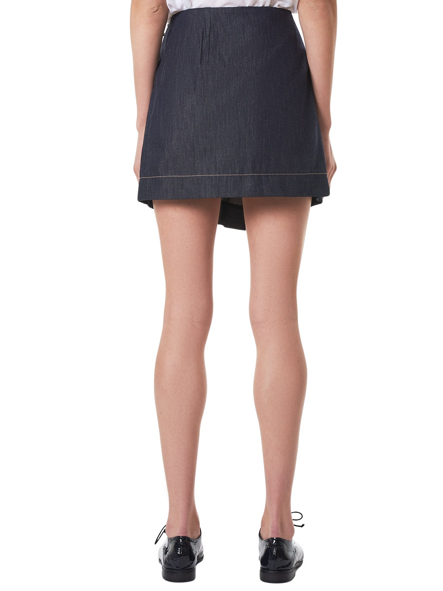 Rokh Denim Skirt - Hlorenzo Back