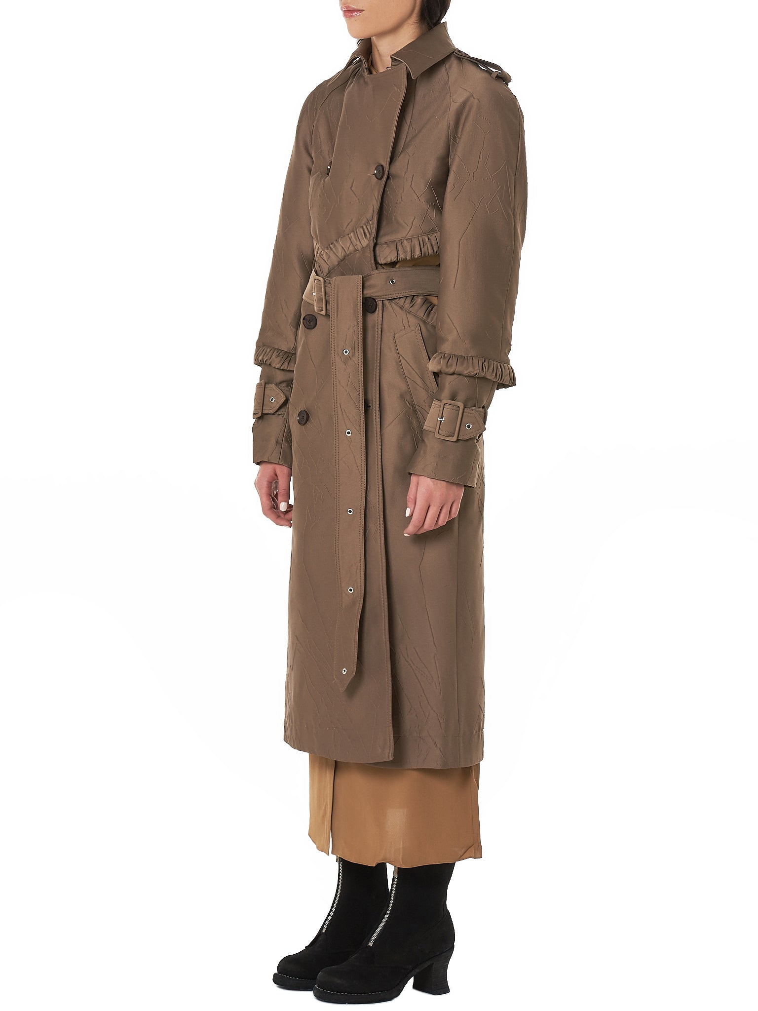 Rokh Trench Coat - Hlorenzo Side