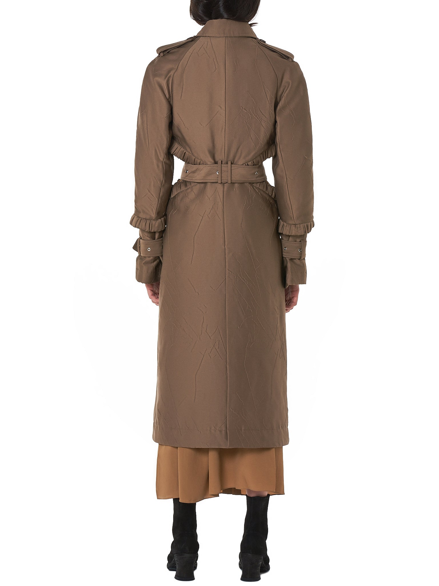 Rokh Trench Coat - Hlorenzo Back