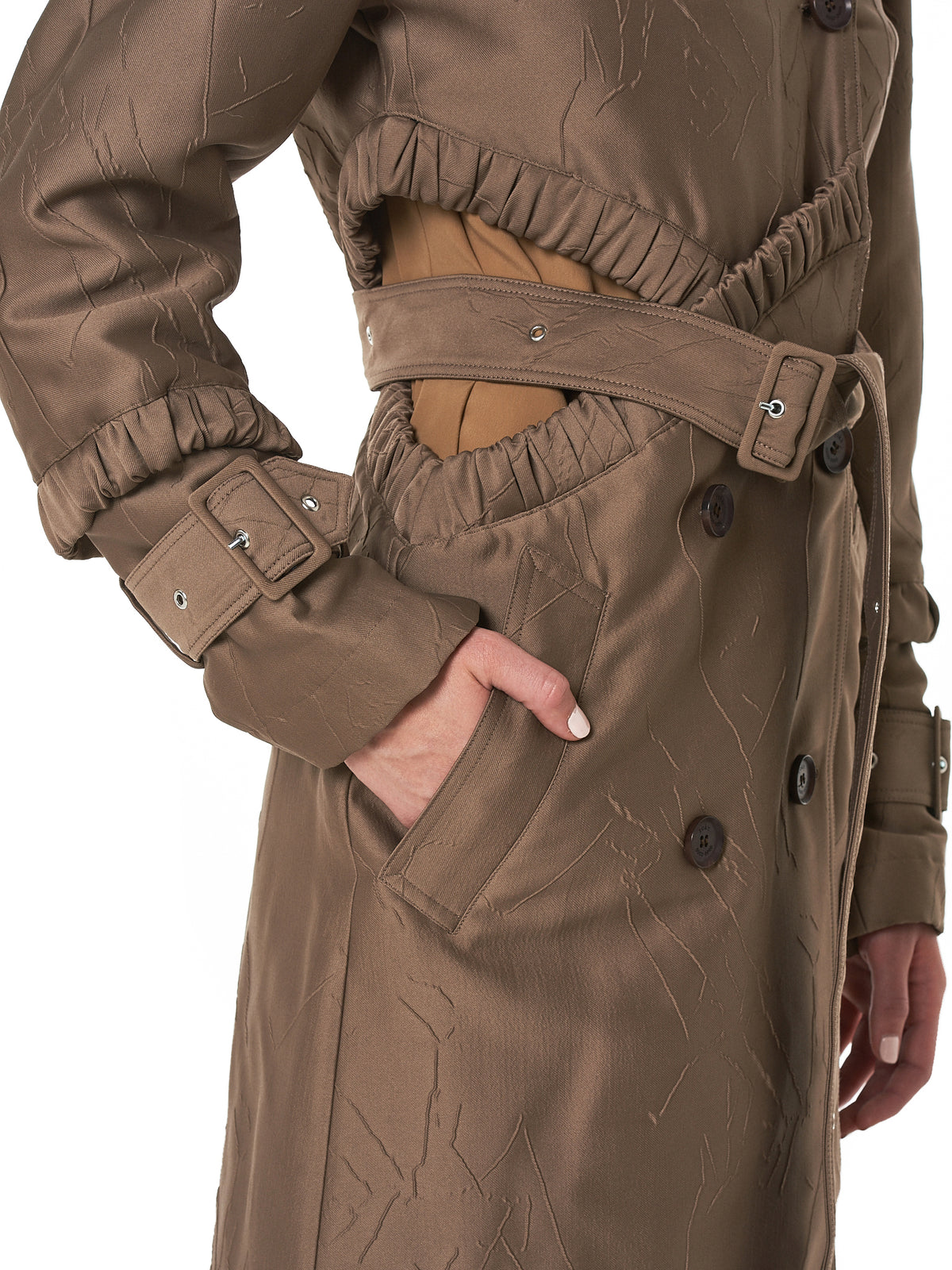Rokh Trench Coat - Hlorenzo Detail 2