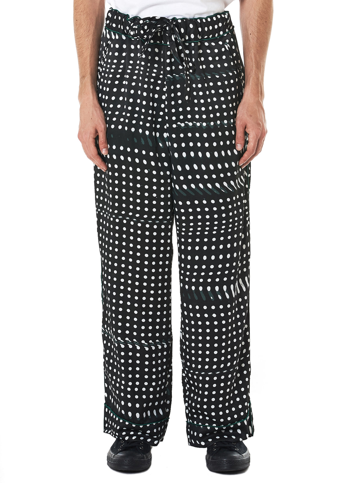 Piped Dotted Trousers (RB-PT-M17-BLACK)