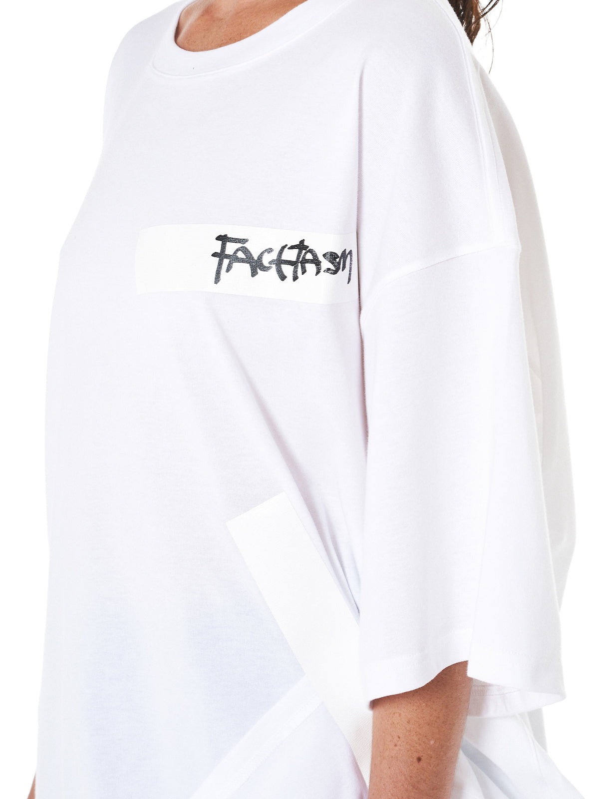 Taped Crewneck Tee (RBTEEU22-WHITE)