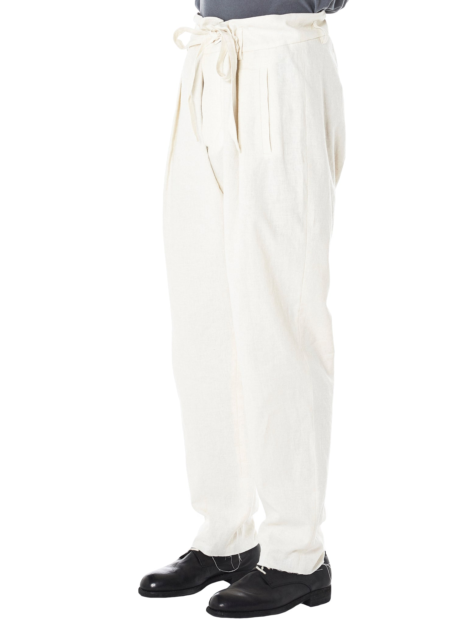 'REIMS' Raw Trousers (REIMS-1352-WHITE)