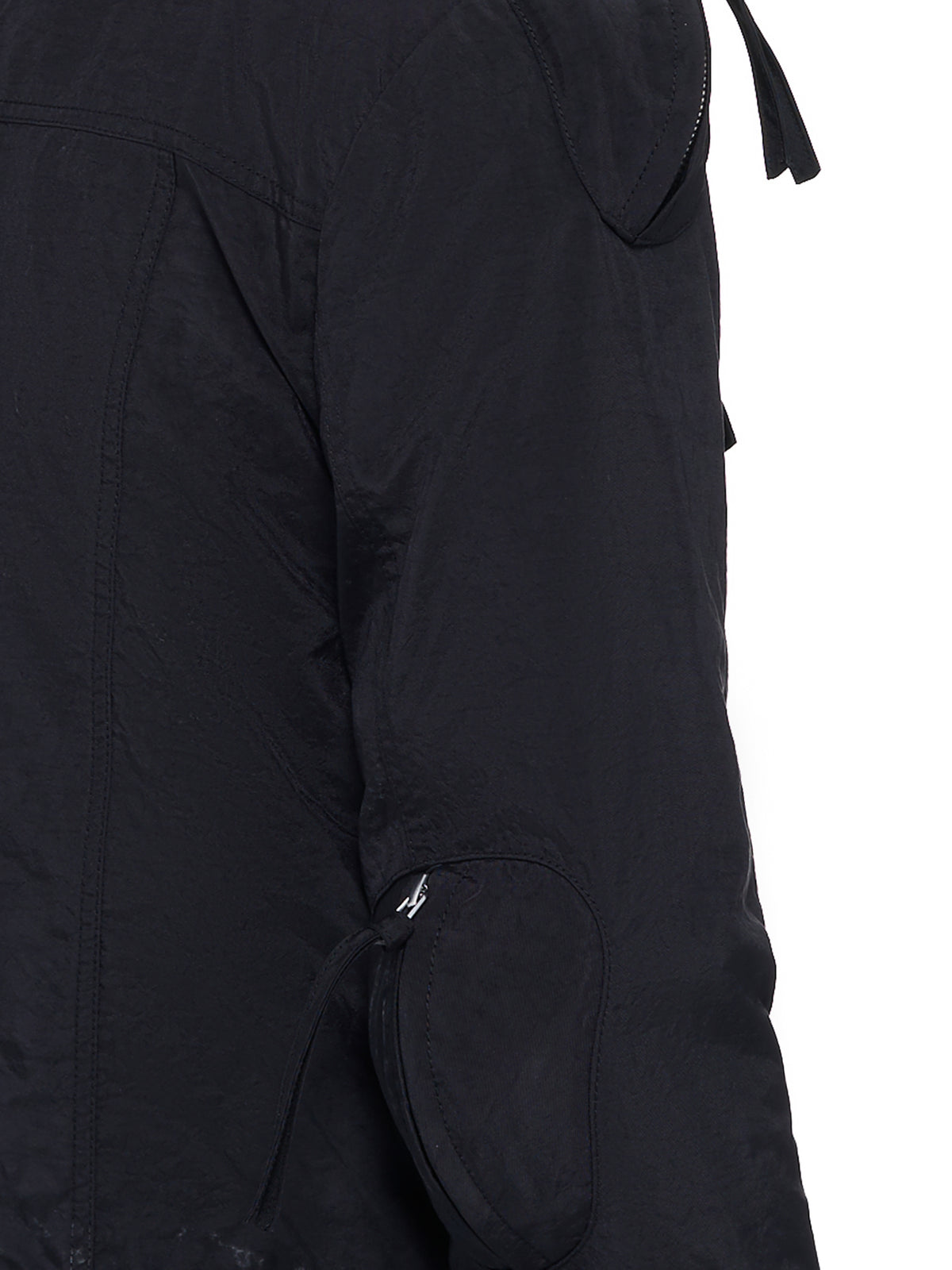 Airbag Shoulder-Guarded Trucker Jacket (RMA21SSJK04-BLACK)