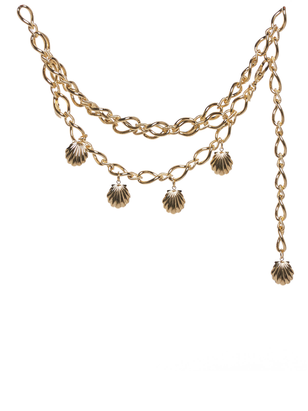 Shell Double Chain Belt (RR-A029-GOLD)