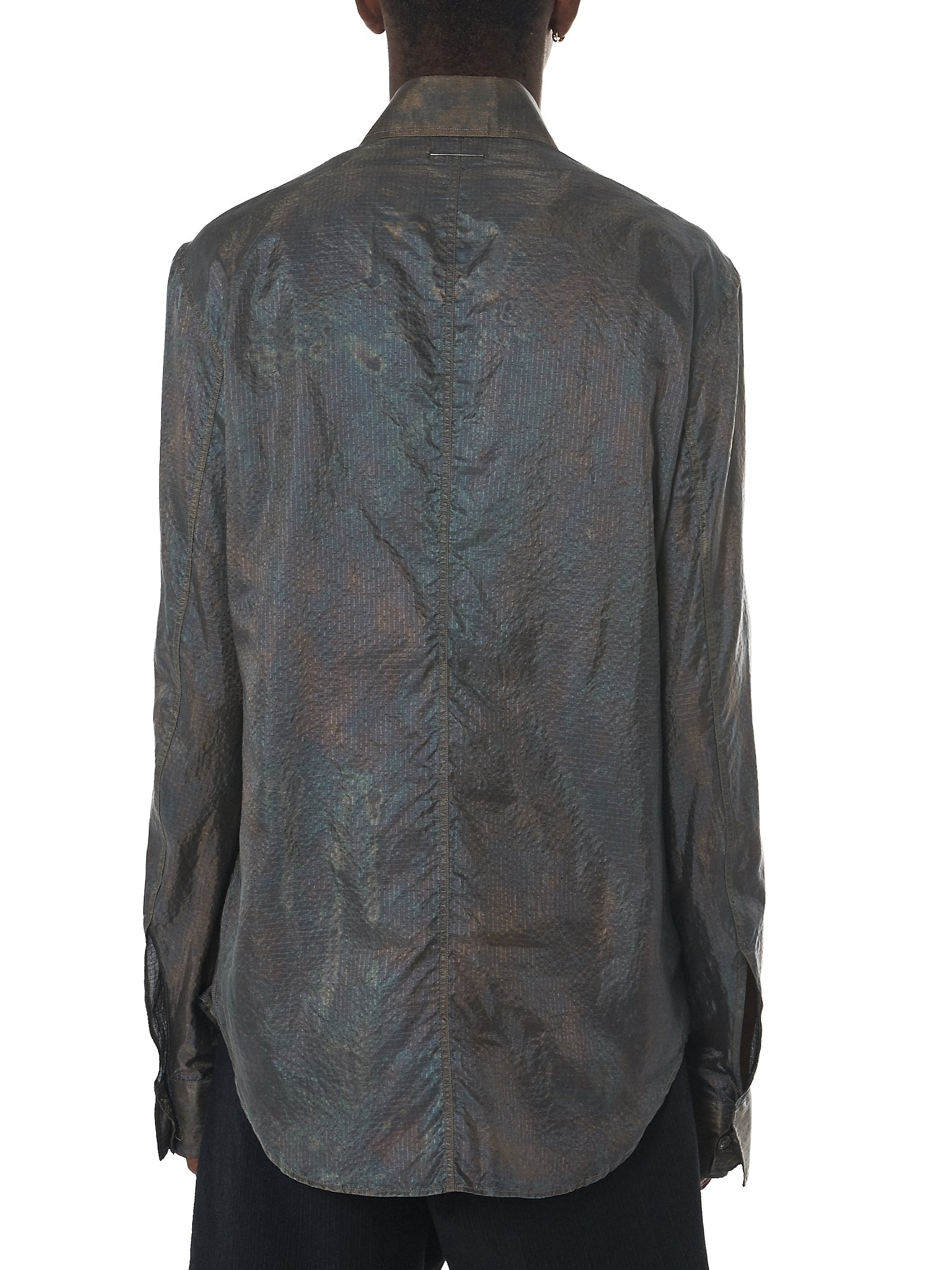 Deepti Metallic Shirt - Hlorenzo Back