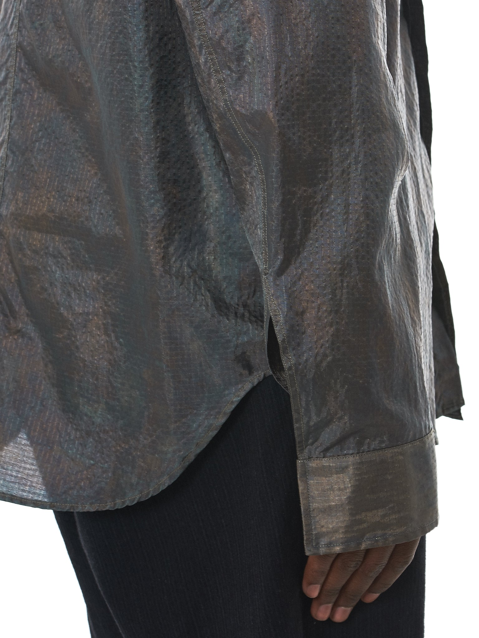 Deepti Metallic Shirt - Hlorenzo Detail 1