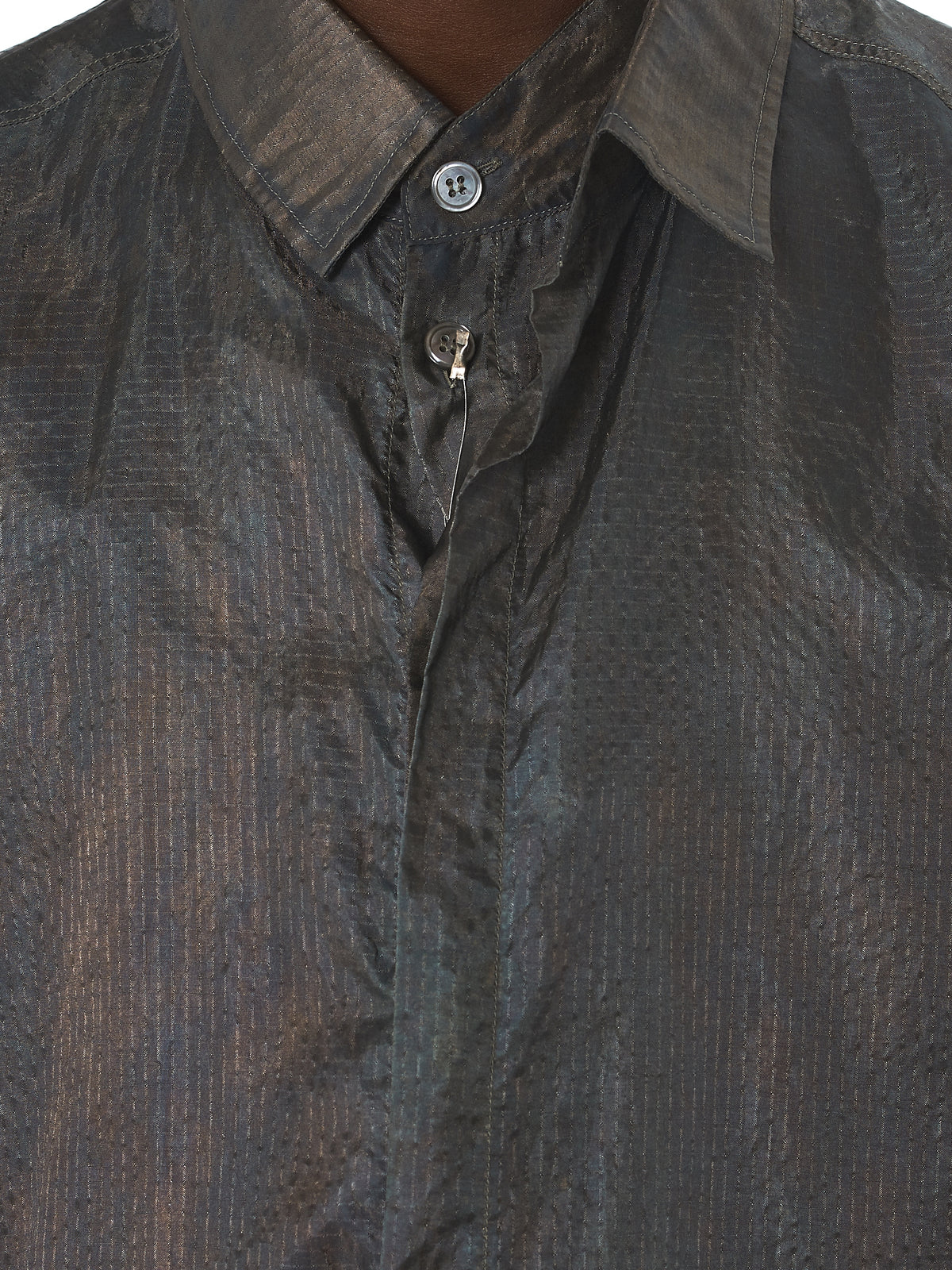Deepti Metallic Shirt - Hlorenzo Detail 2