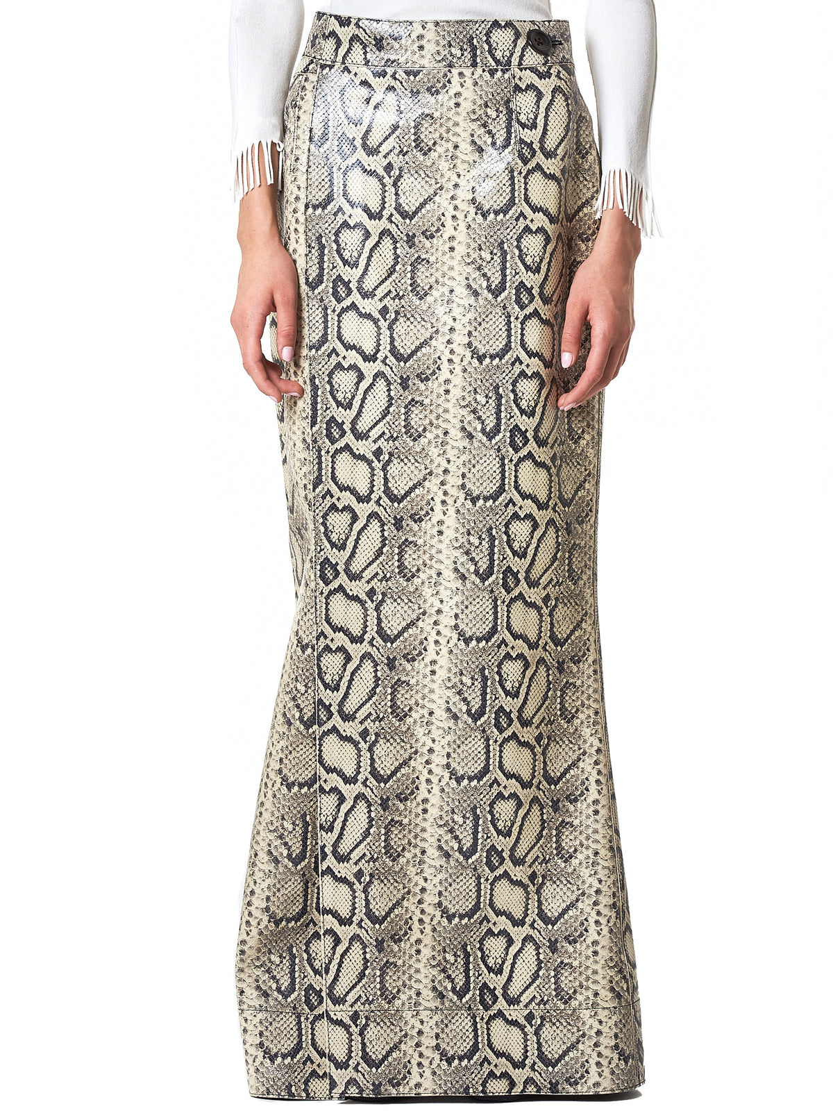 Python Wrap Skirt (S006-FP-NATURAL-WHITE)