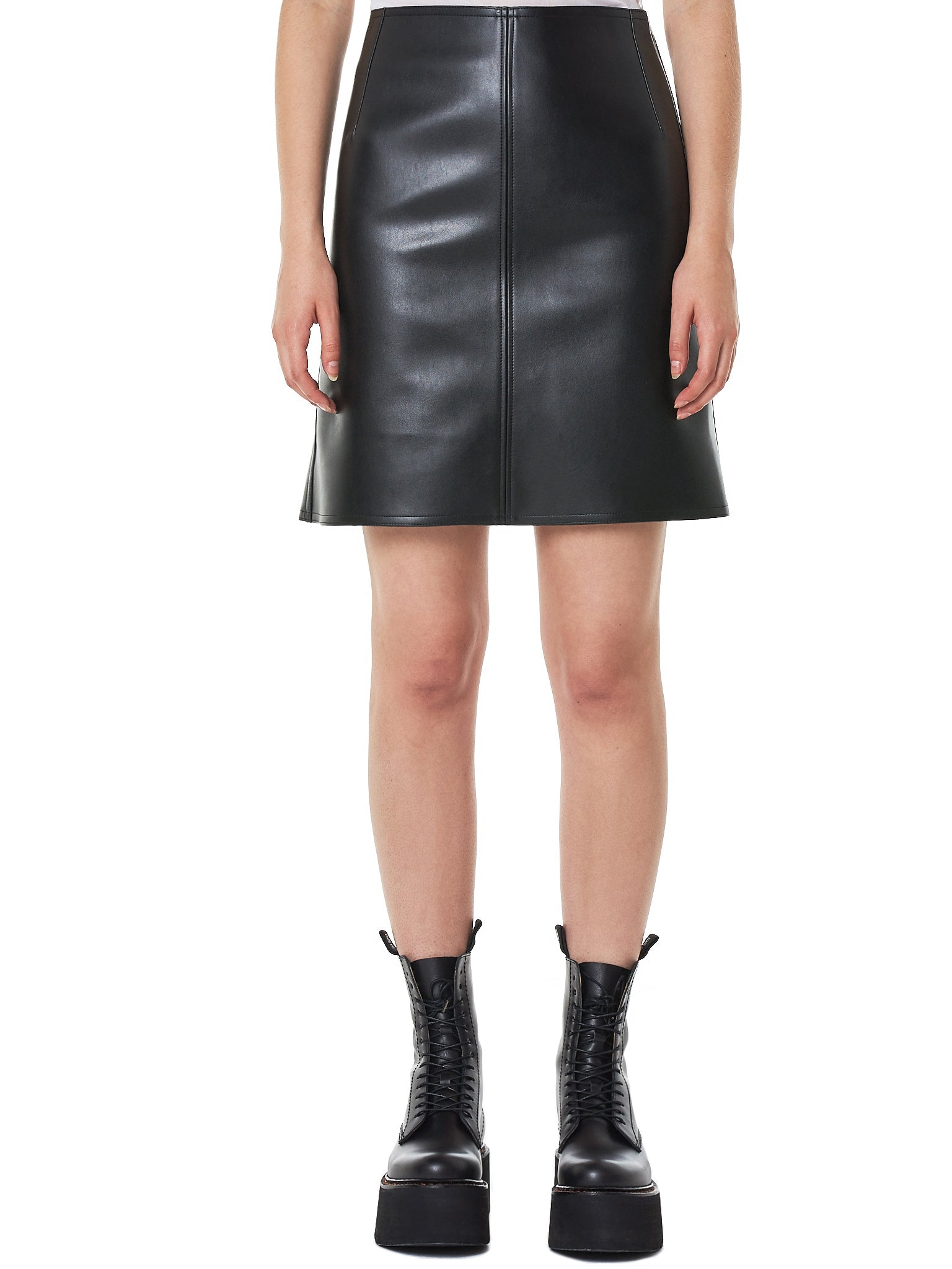 Leather Flare Skirt (S007-FL-BLACK)