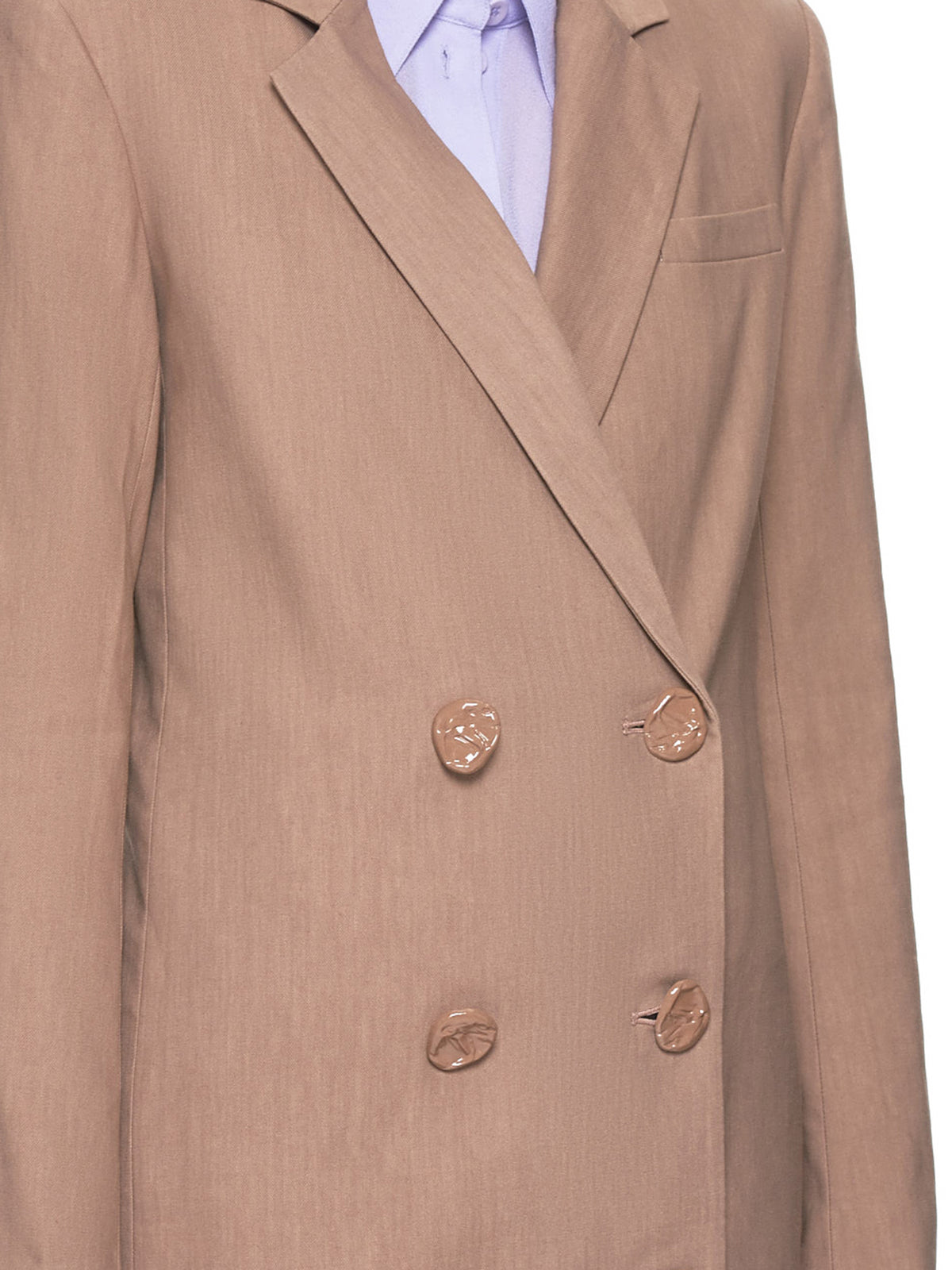 Brown Hardware Jacket (S119LV1216-SABLE-BROWN)