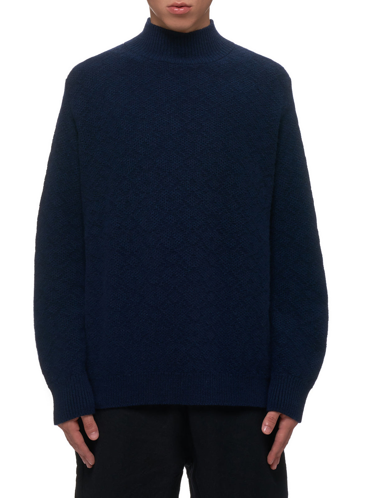 Knitted Sweater (S13008-NAVY)