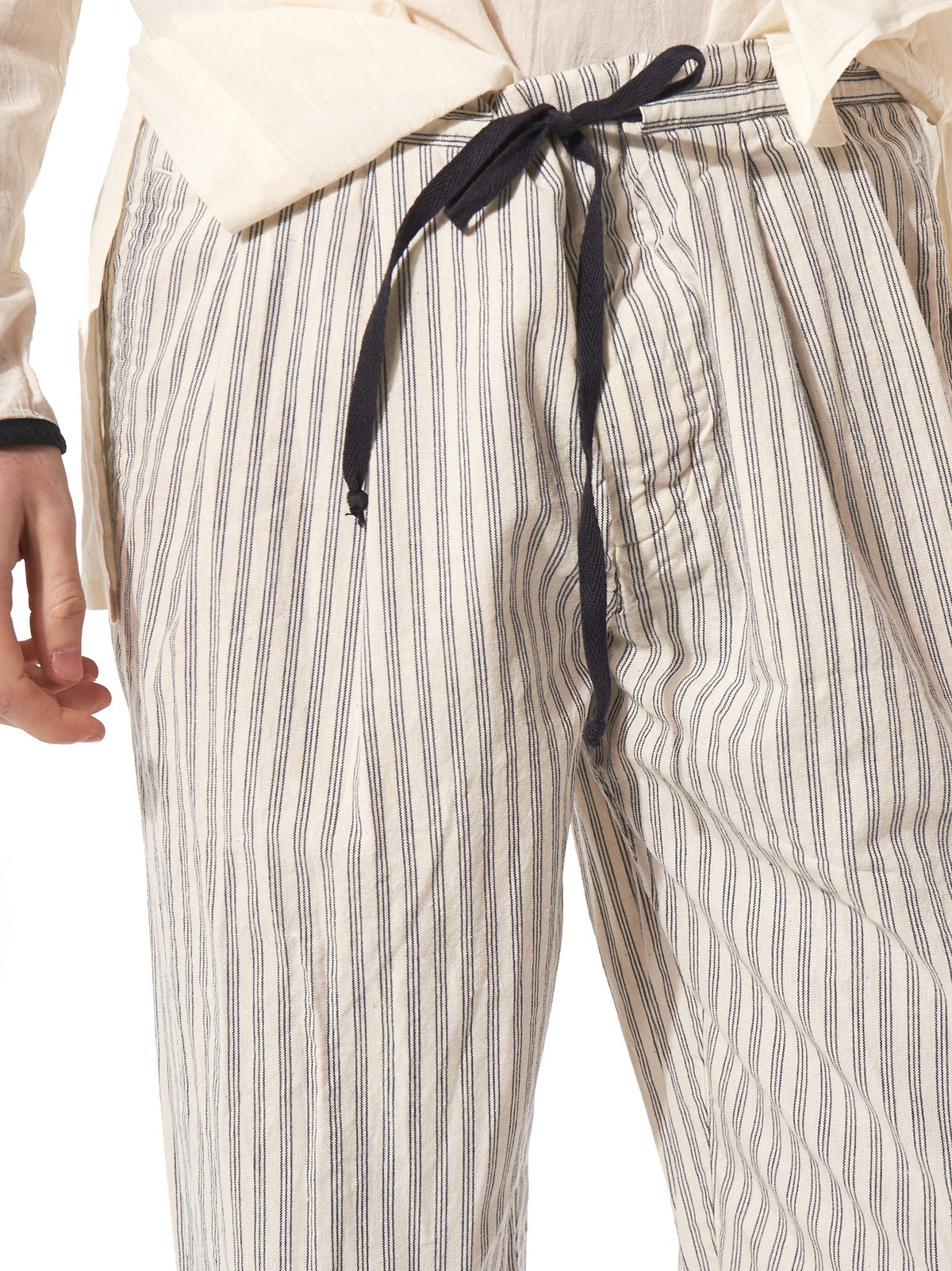 Relaxed Striped Trouser (S17P05 NATURAL) - H. Lorenzo