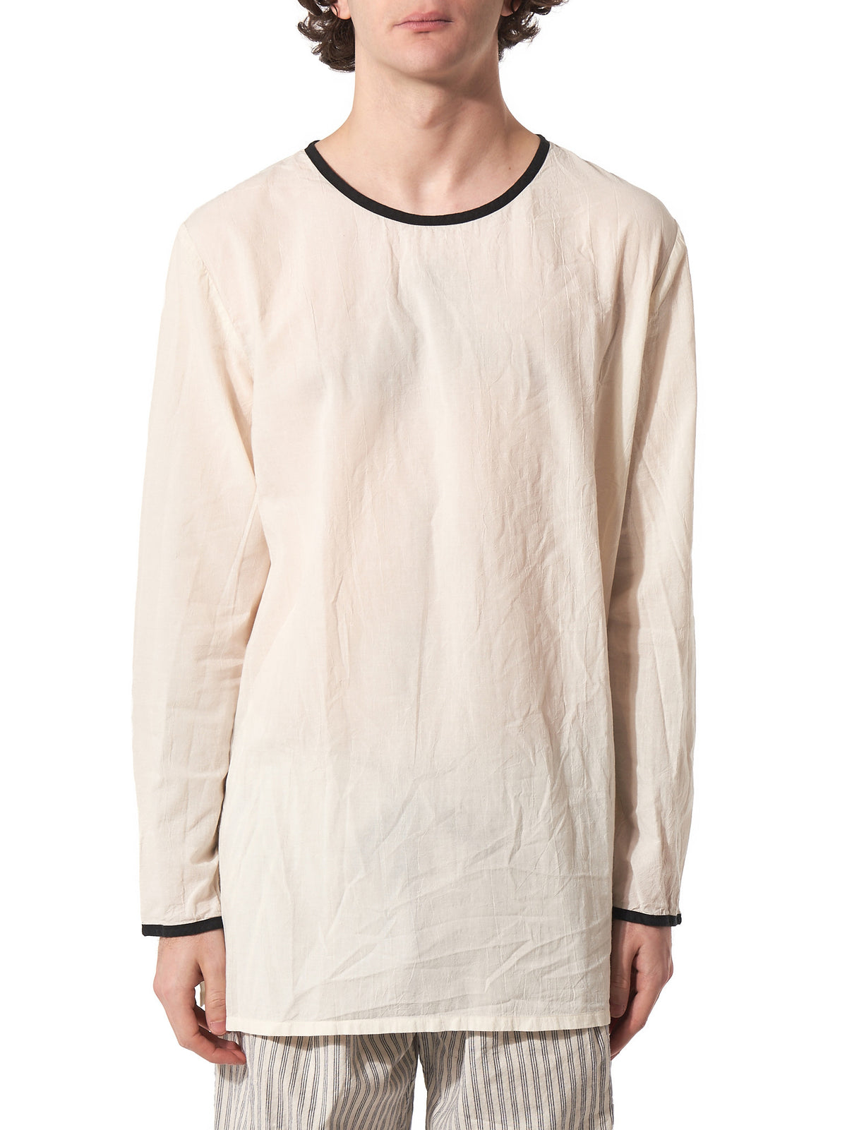 Long-Sleeved Cotton Tee (S17T03 OFF-WHITE) - H. Lorenzo