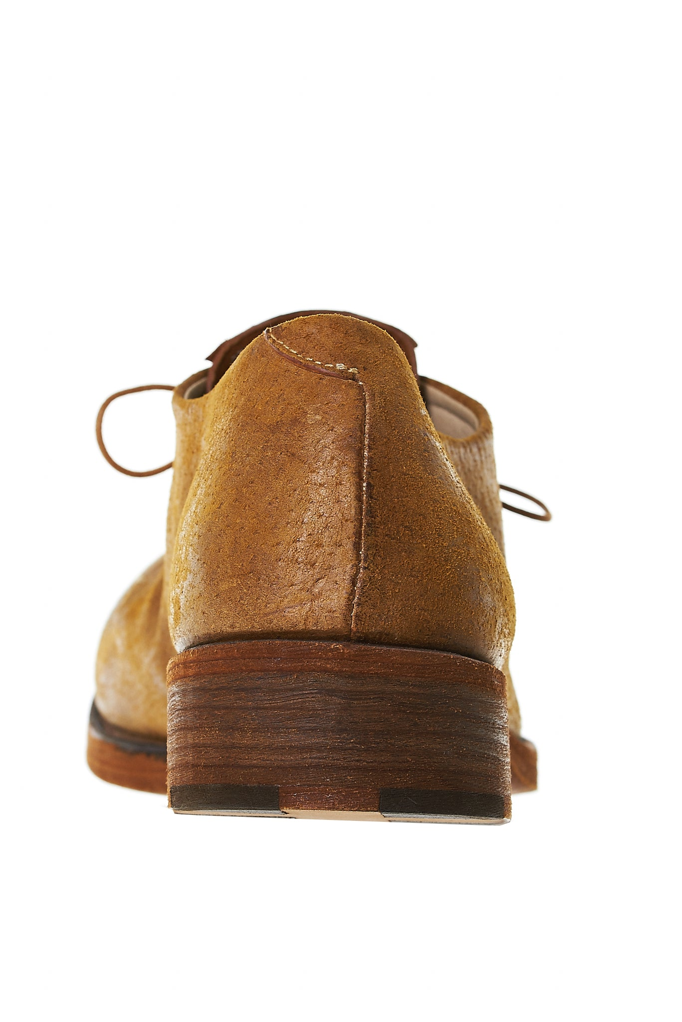 Pebbled Stacked Derby Shoes (S1A1 MAVA.R 1.3 MUSTARD)