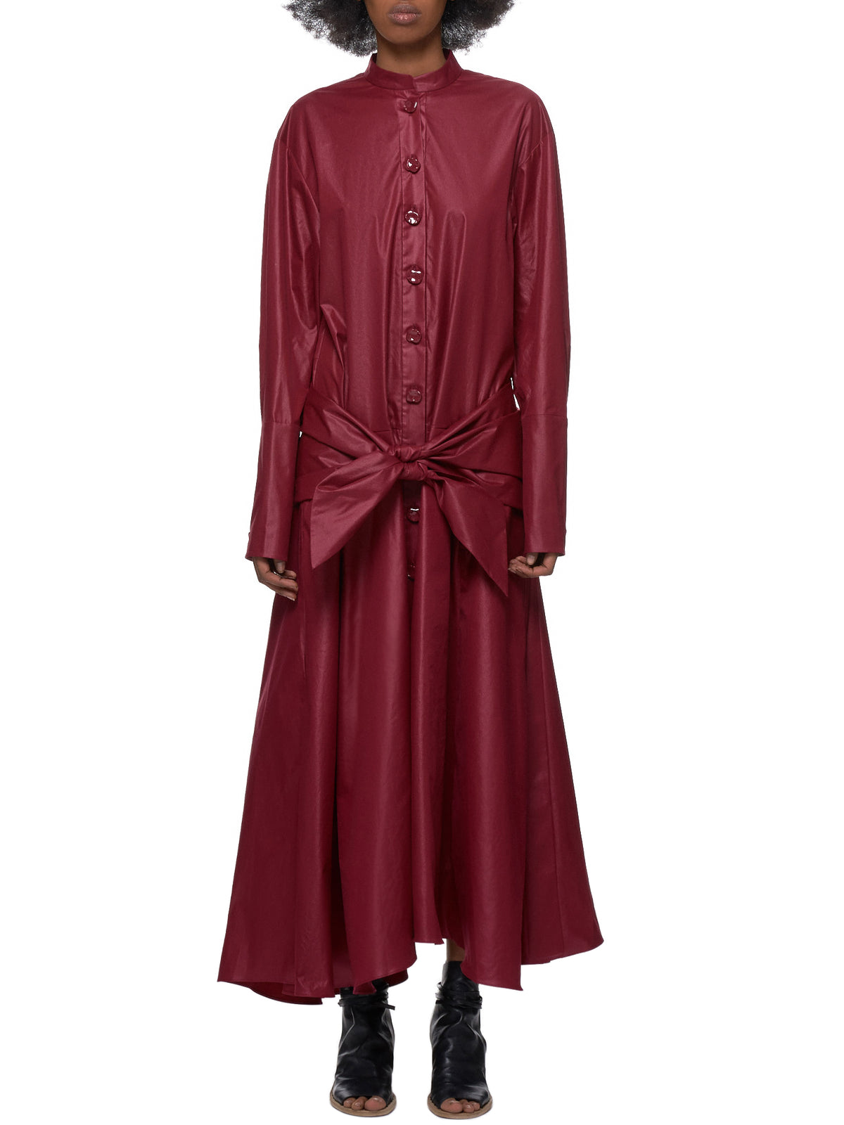 Button-Up Dress (S219WH1252-BURGUNDY)