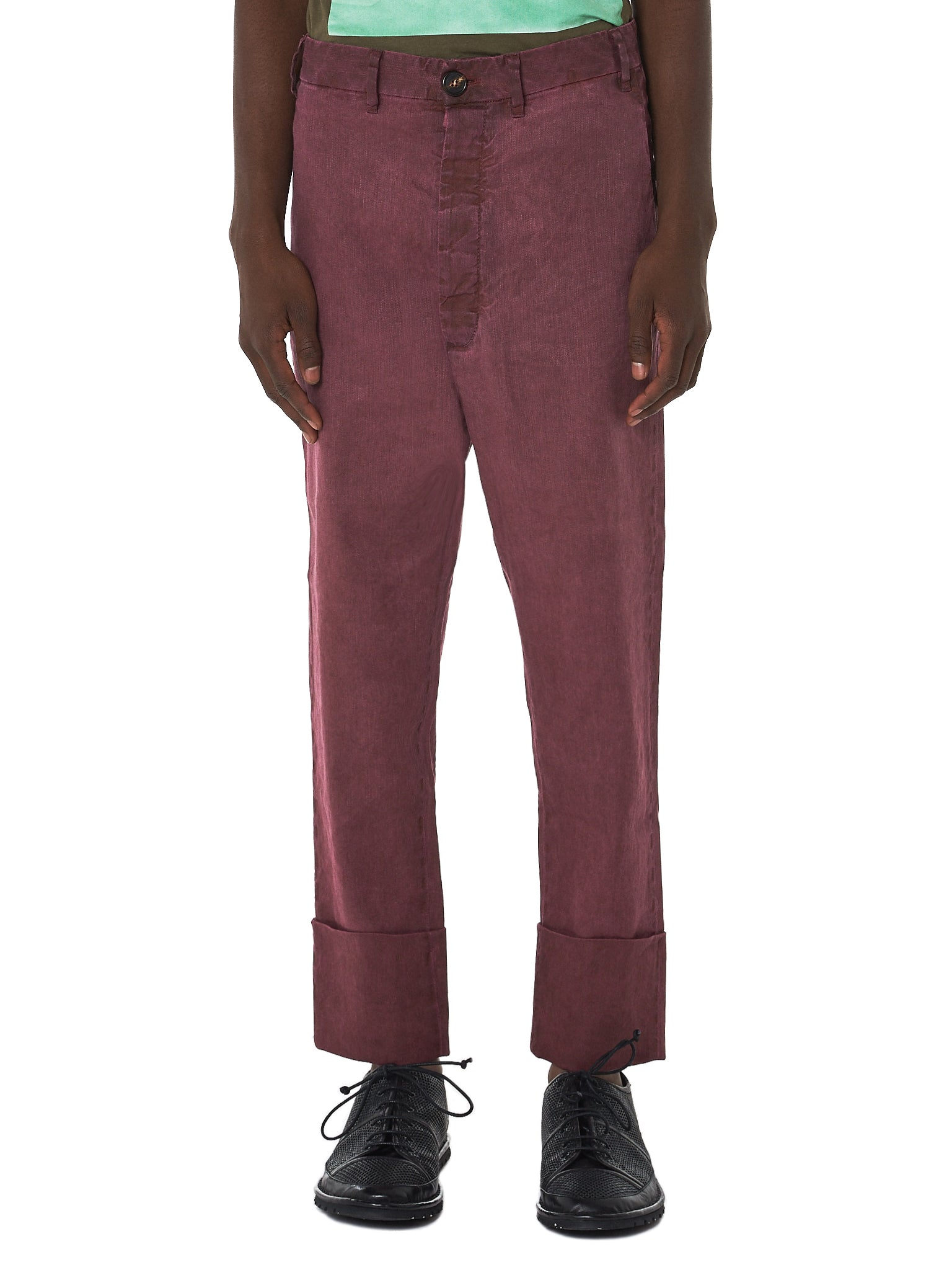 Vivienne Westwood Linen Trousers - Hlorenzo Front