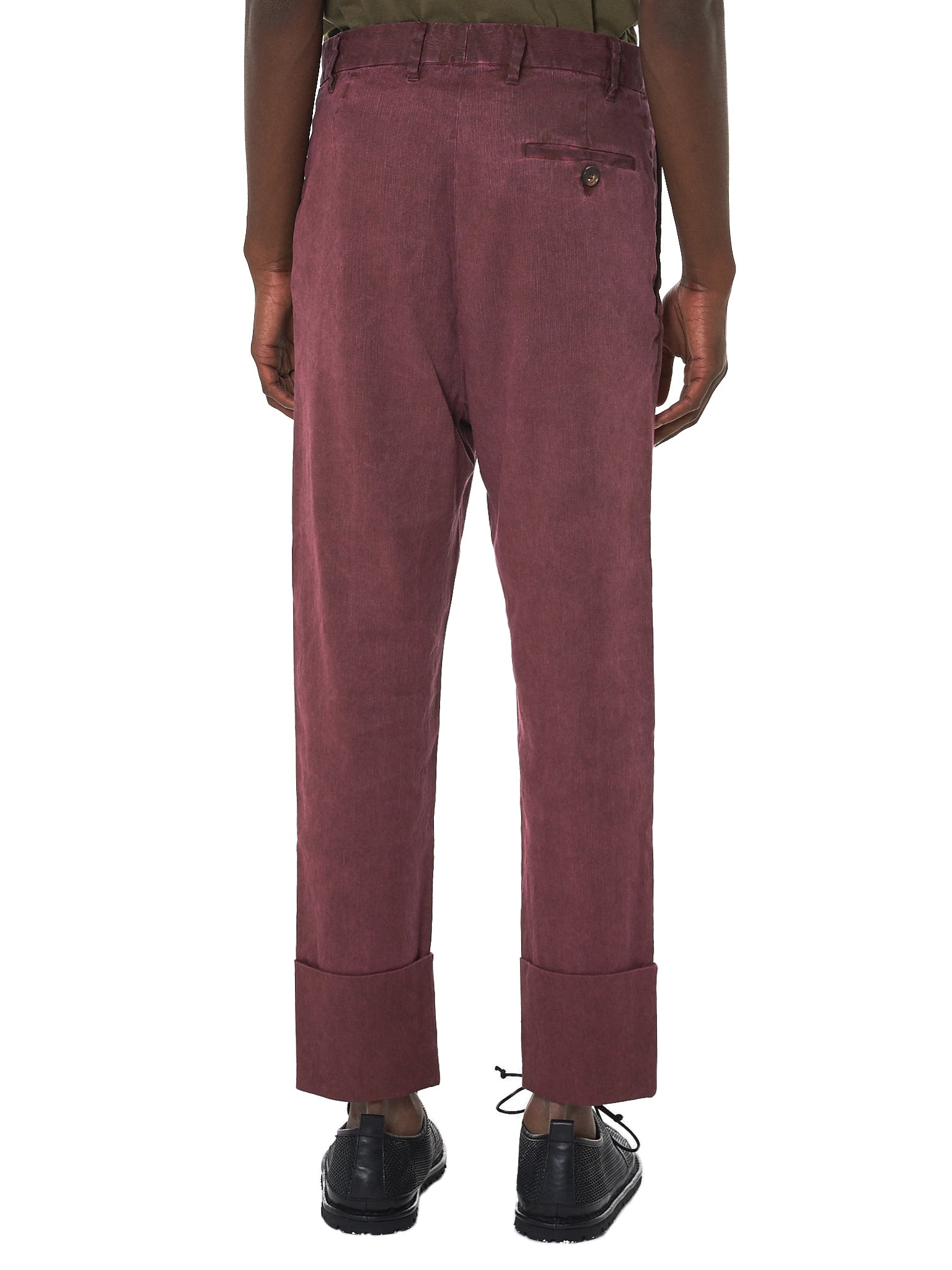 Vivienne Westwood Linen Trousers - Hlorenzo Back