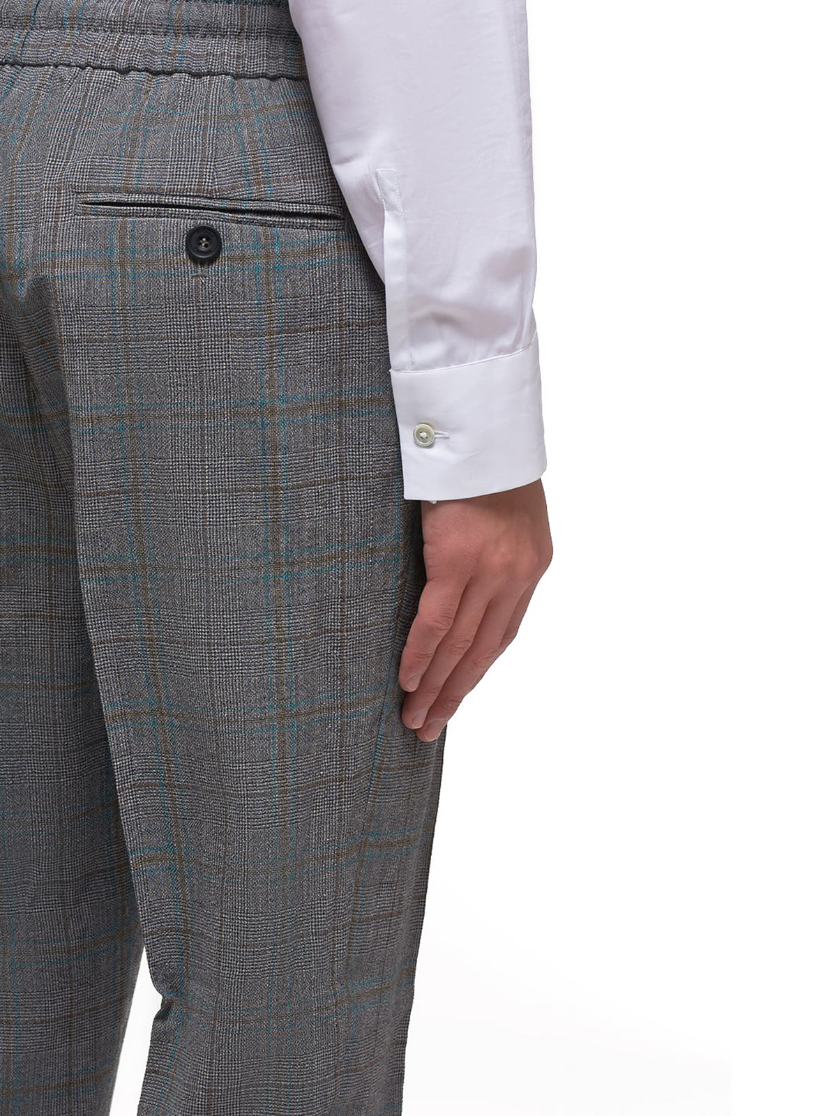Glen Plaid Drawstring Trousers (S25KA0627-S52665-GRE)