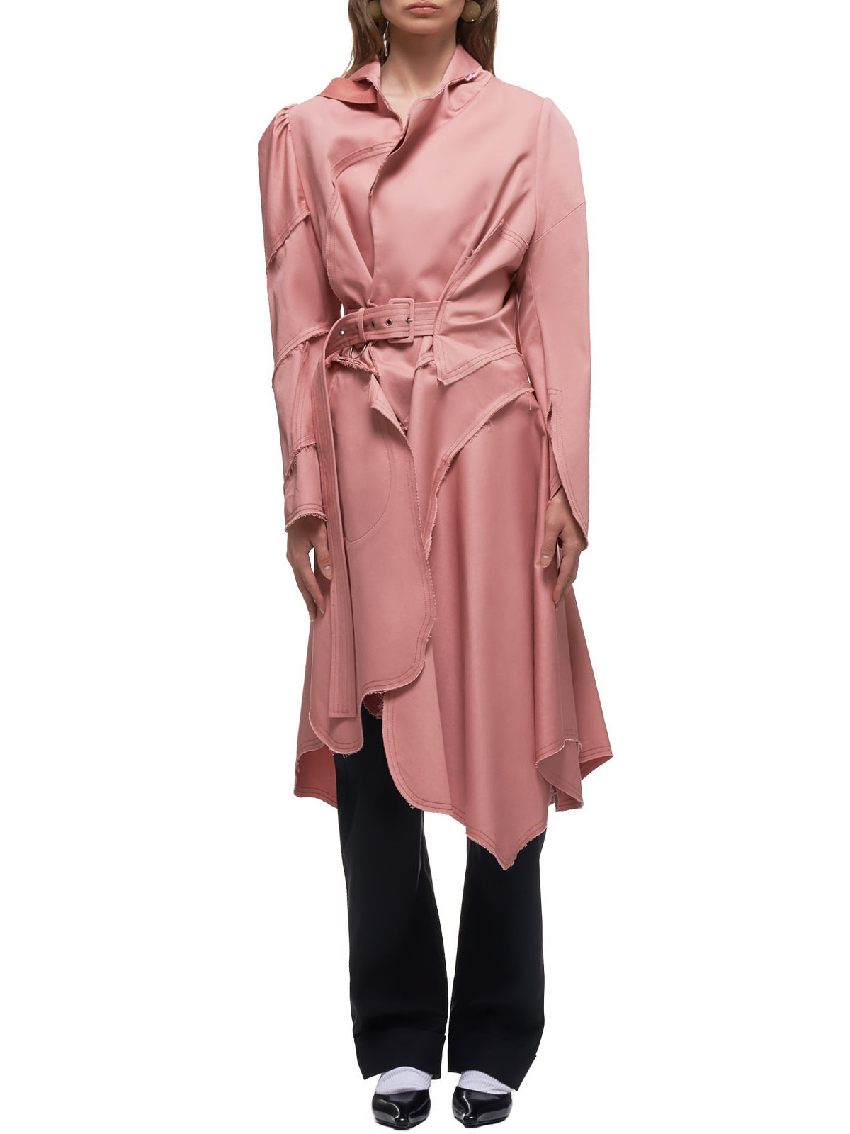 Distressed Trench Coat (S26AH0061-0238SF-ROSE)