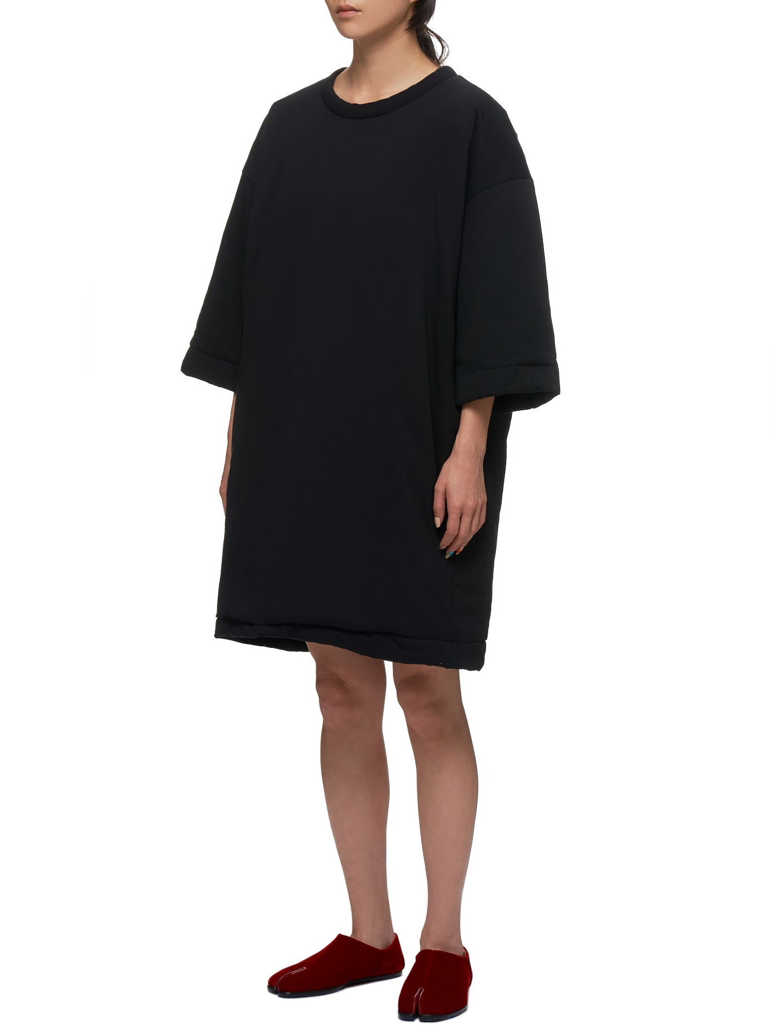 Filled Shirt Dress (S32CU0089-S23082-BLACK)