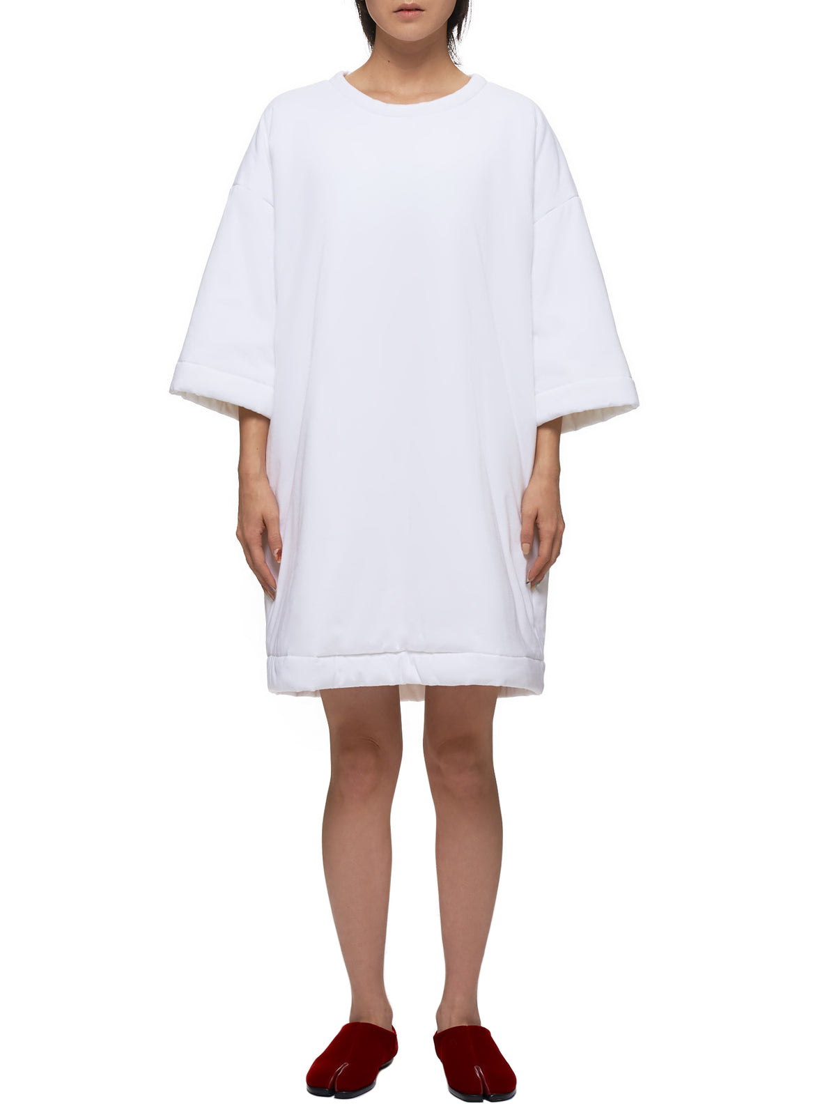 Filled Shirt Dress (S32CU0089-S23082-WHITE)
