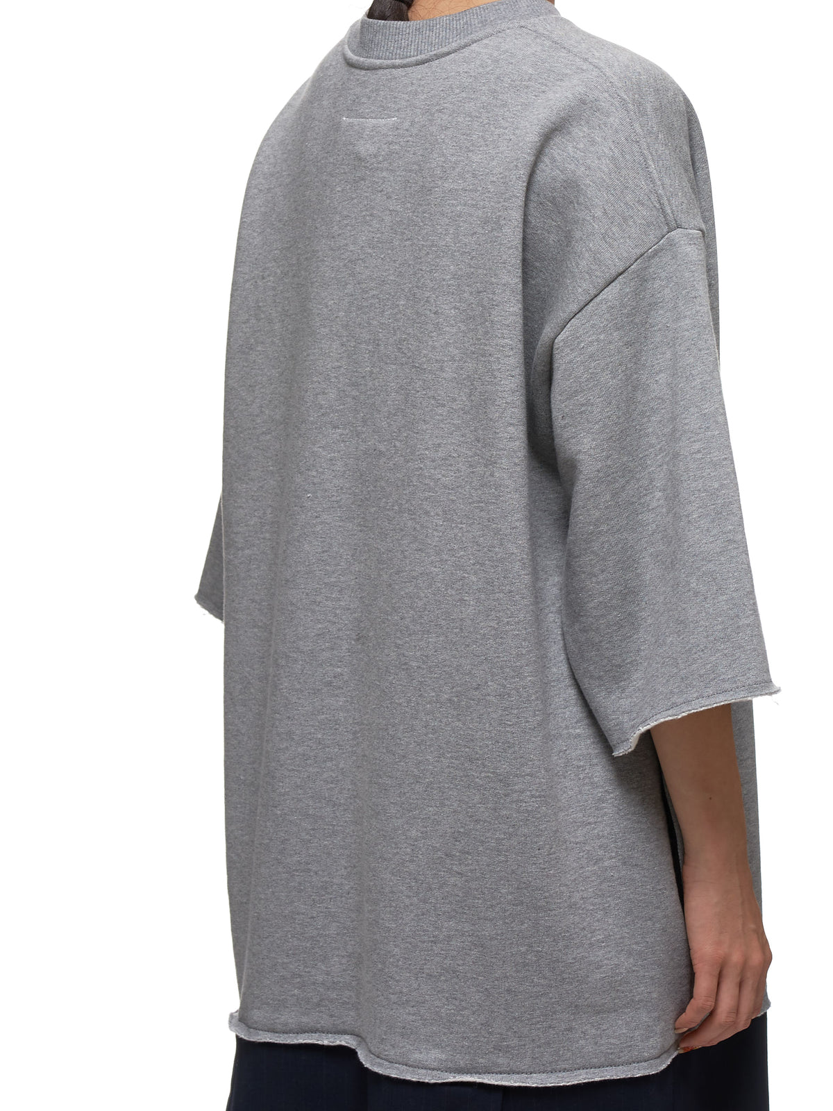 Crew Neck Shirt Dress (S32CU0090-S25387-LIGHT-GREY-BL)