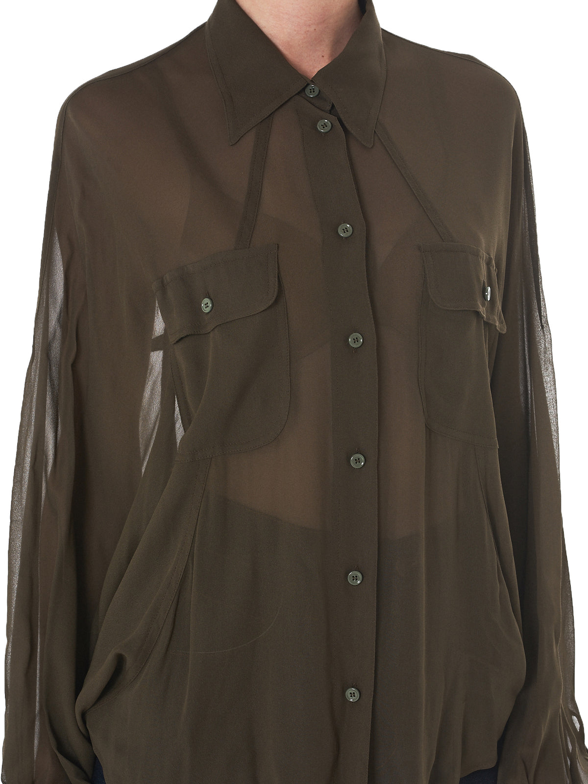 Maison Margiela Sheer Blouse - Hlorenzo Detail 2