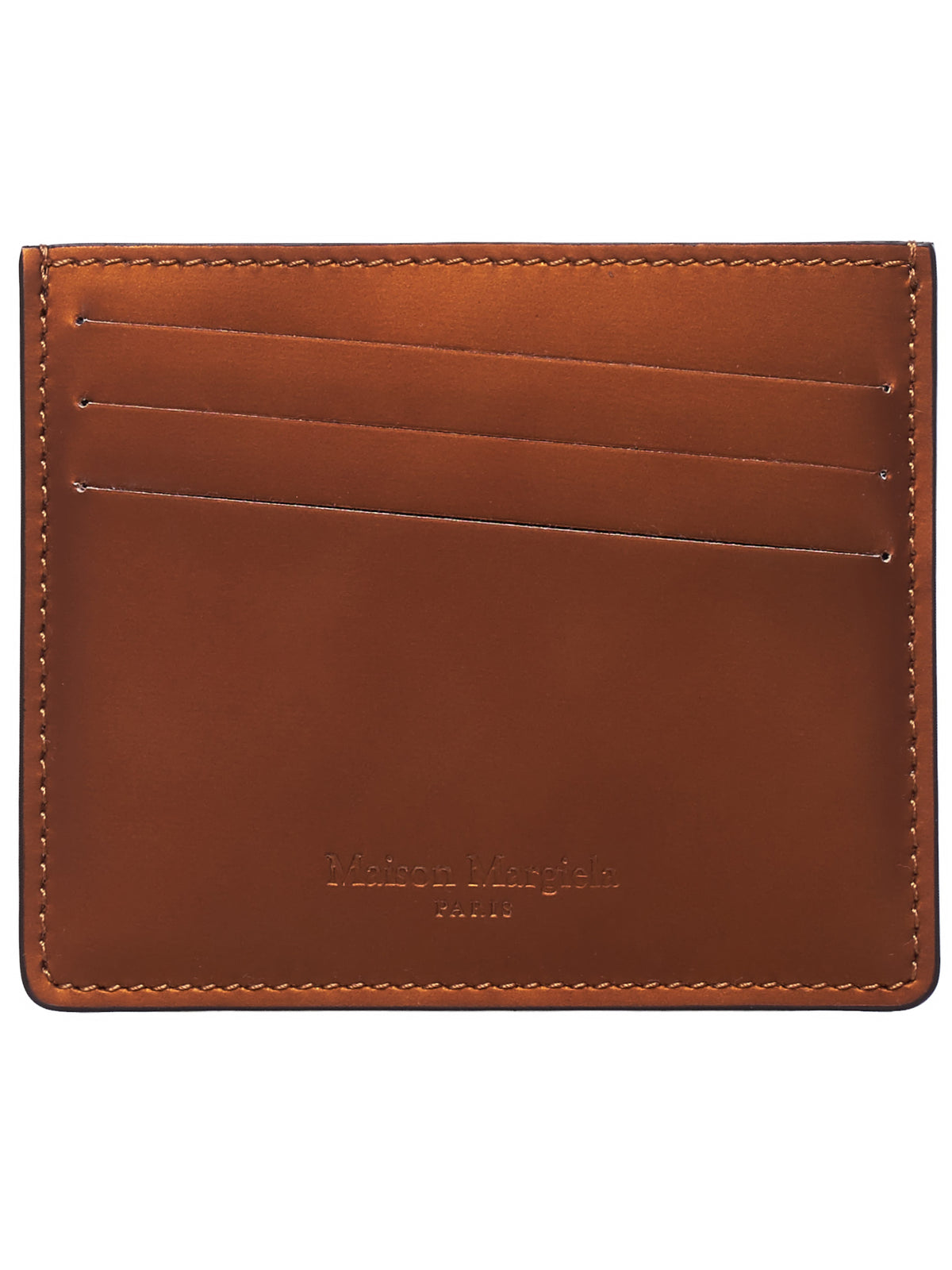 Leather Card Holder (S35UI0432-P2714-BROWN)