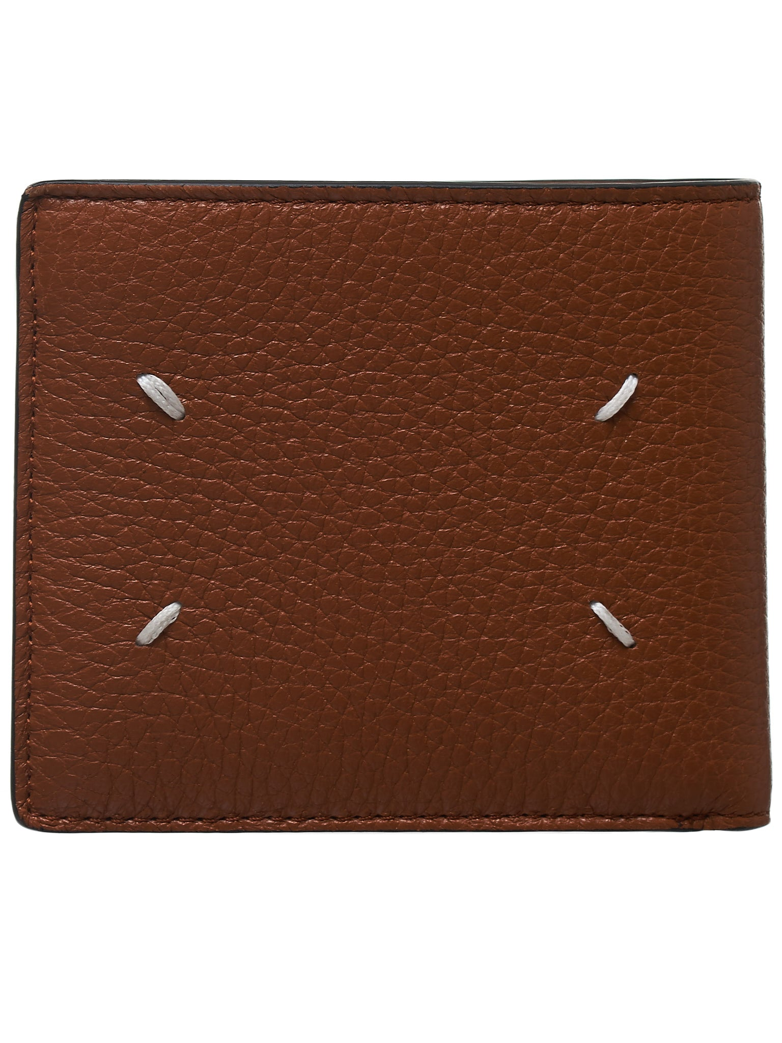 Leather Tri-Fold Wallet(S35UI0435-P2686-BROWN)