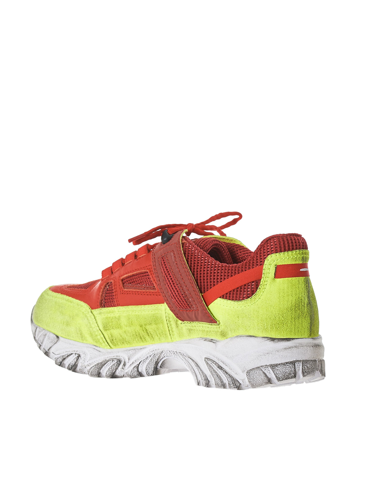 Colorblock Security Sneaker (S37WS0451-P2264-YELLOW-RED)
