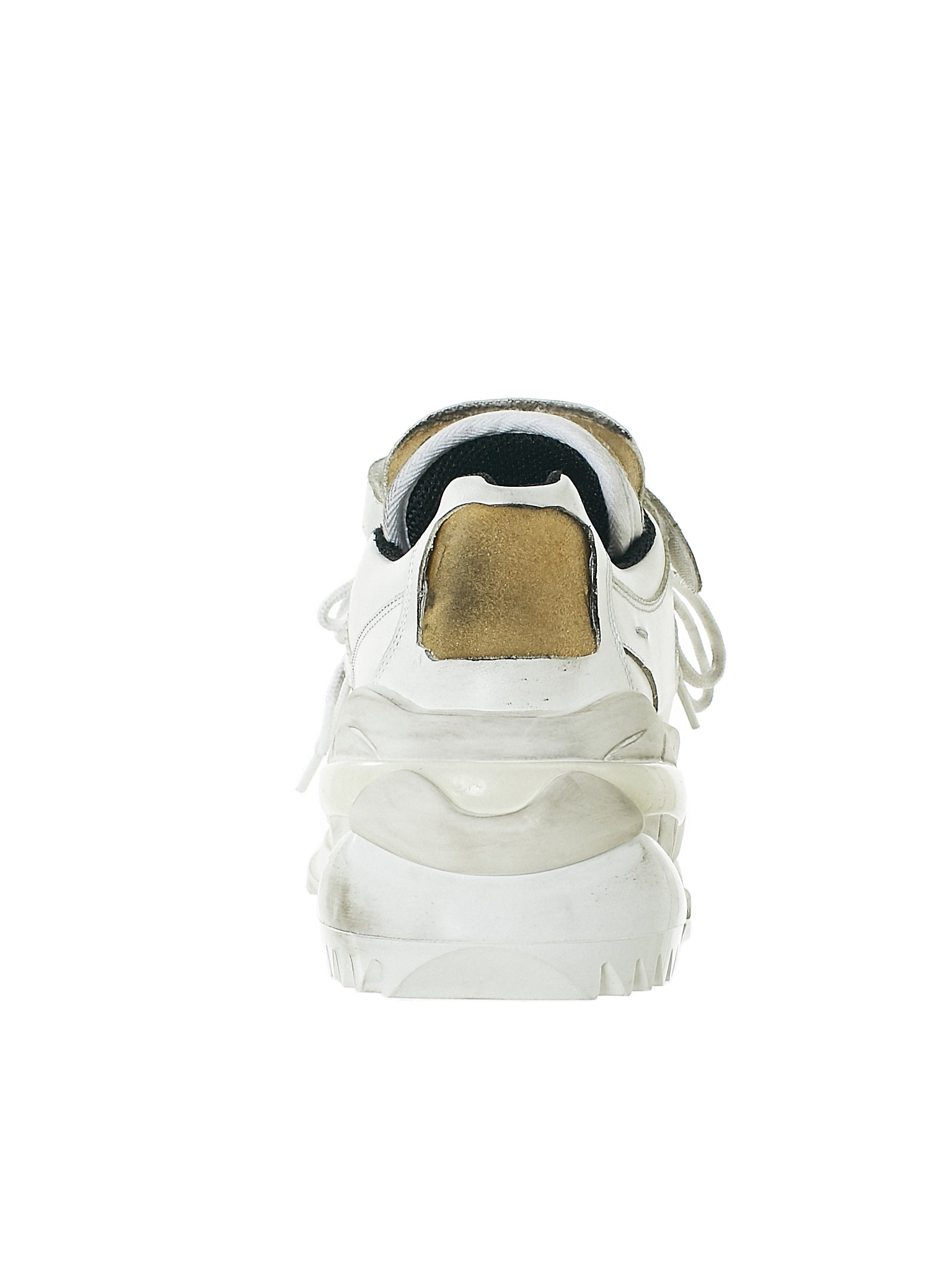 Distressed Artisanal Sneaker (S37WS0465-WHITE)