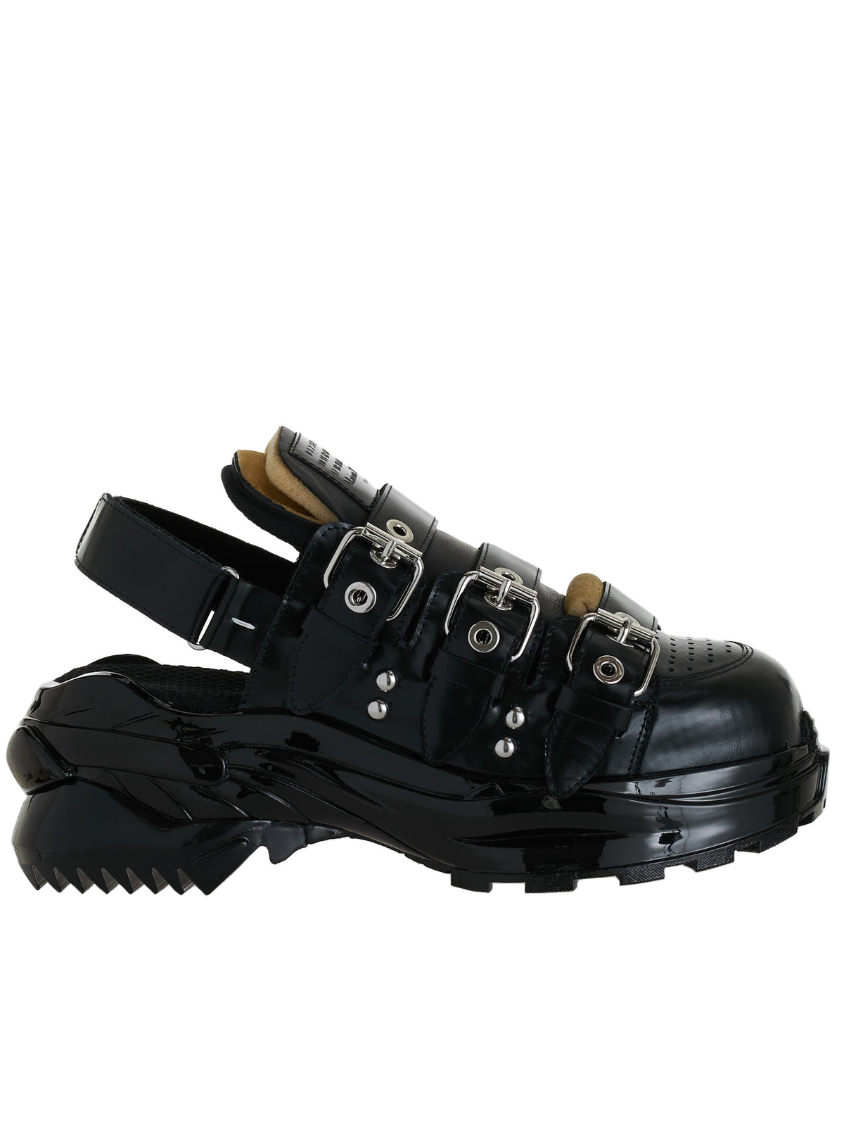 Low-Cut Retro Sandal Clog (S37WS0559-P3725-BLACK)