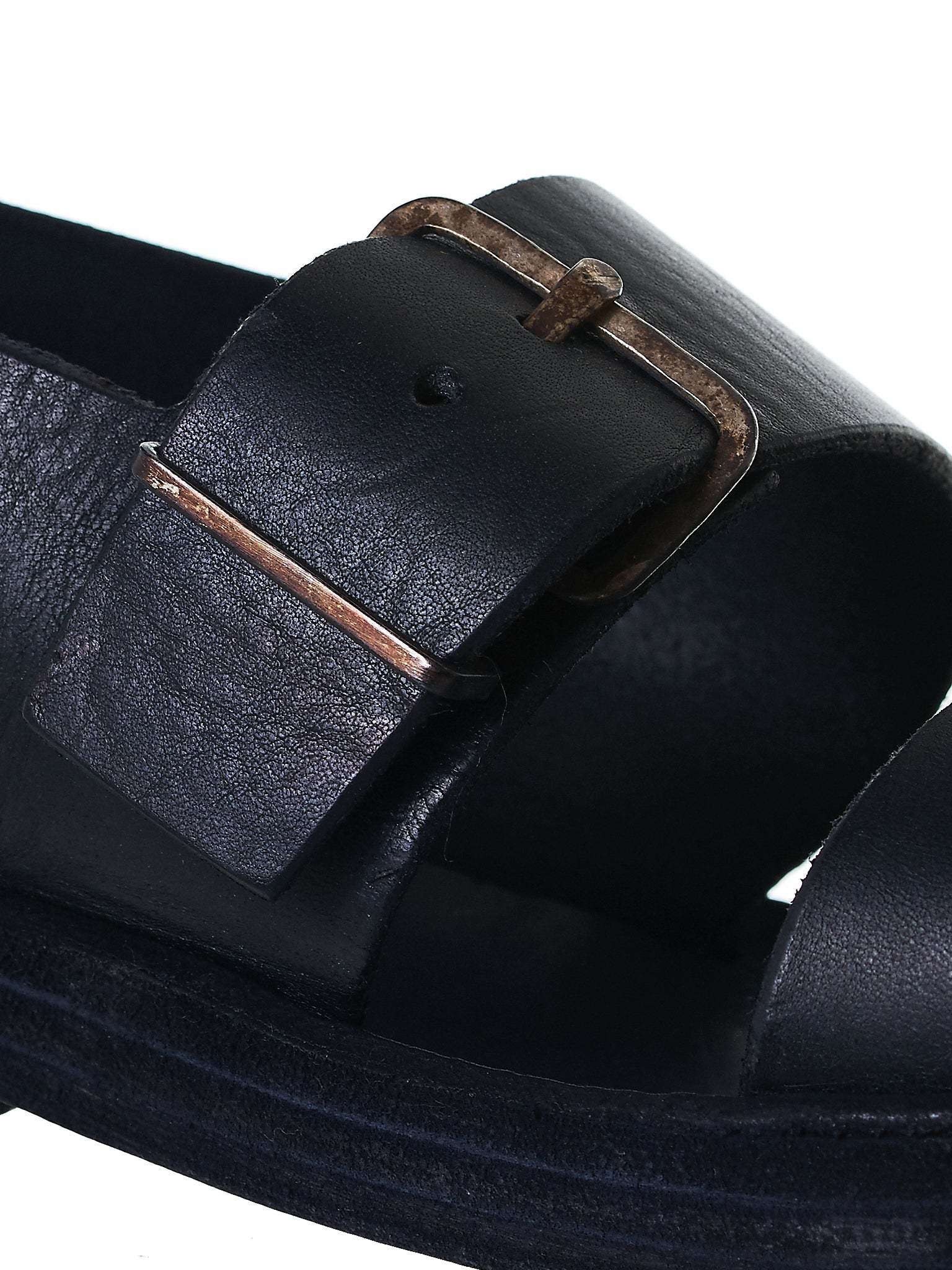 Buckled Leather Sandals (S4S1 GR 3.0 BLACK)