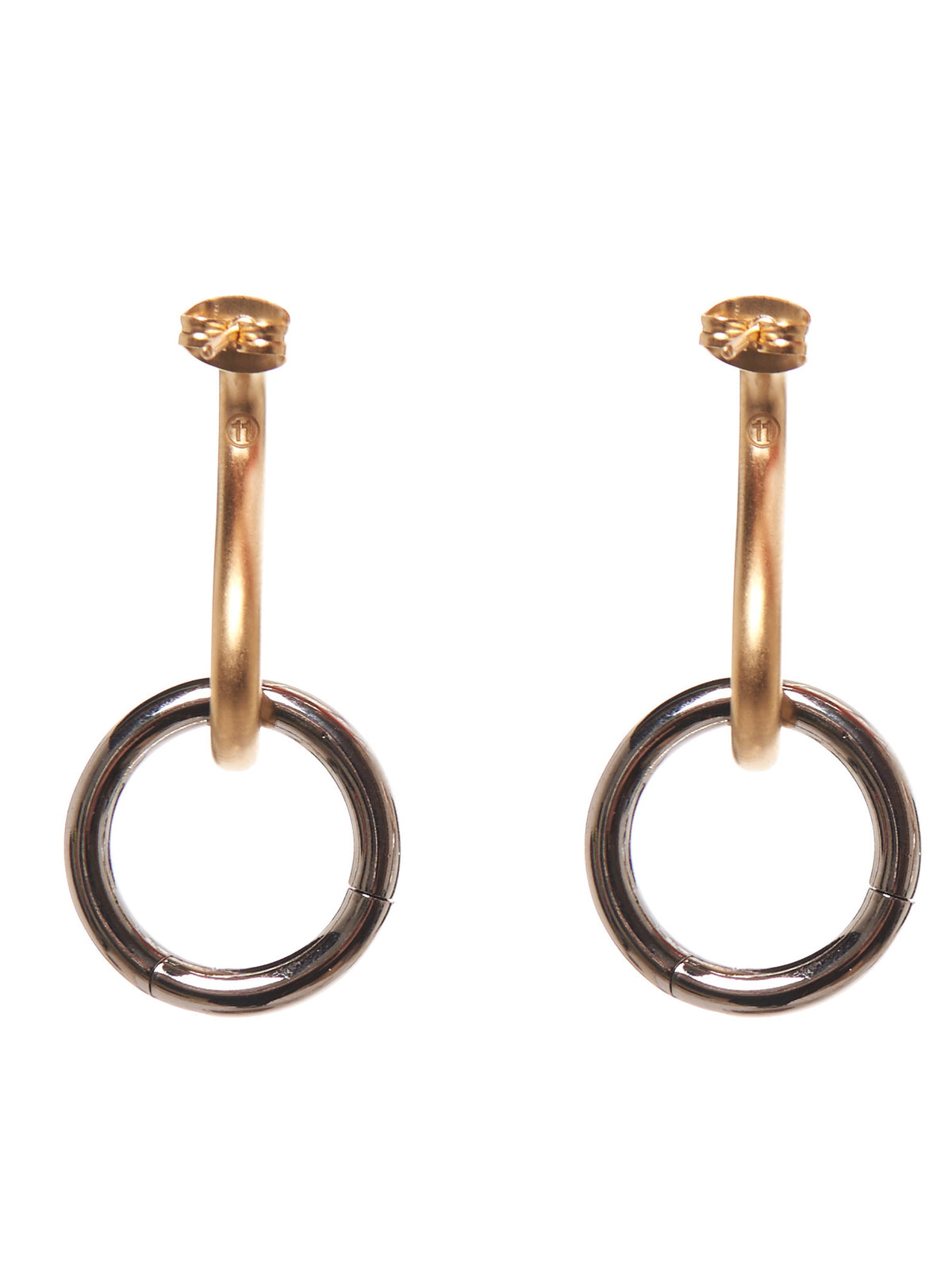 Loop Earrings (S51VG0019-S11874-GOLD-SILVER)