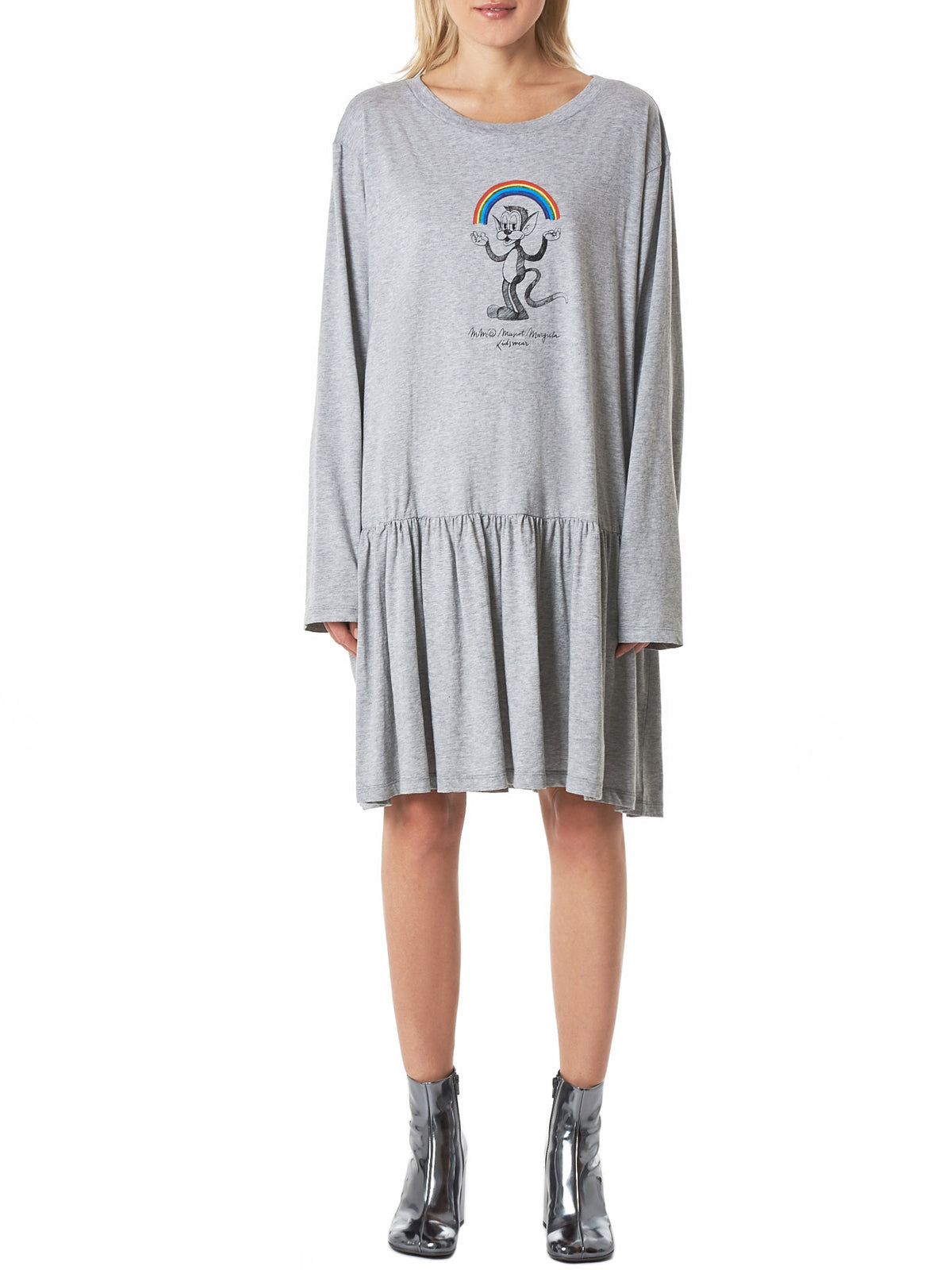 Long-Sleeve Dress (S52CT0381-GREY)