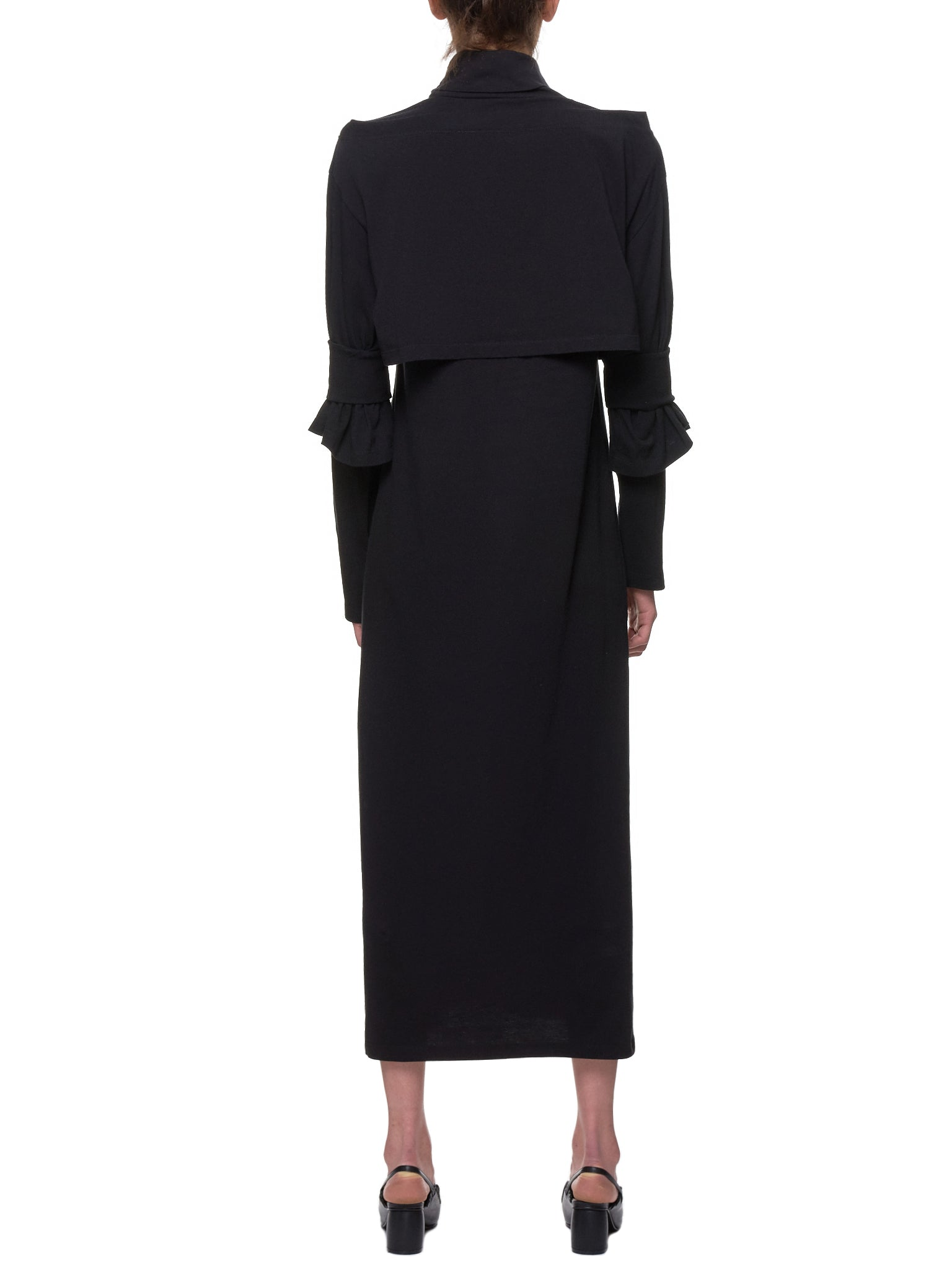 Layered Turtleneck Dress (S52CT0419-S21058-BLACK)