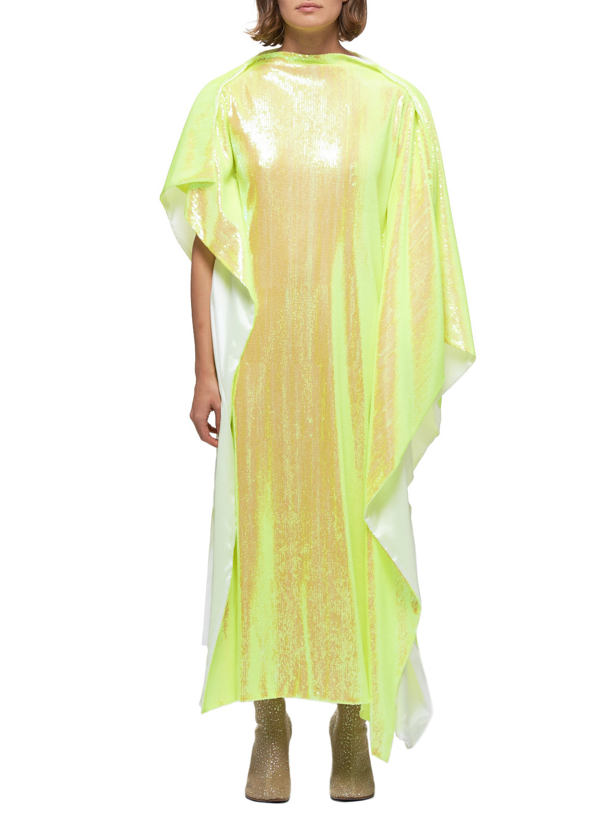 Sequined Oversized Dress (S52CT0506-S52529-172-YELLOW)