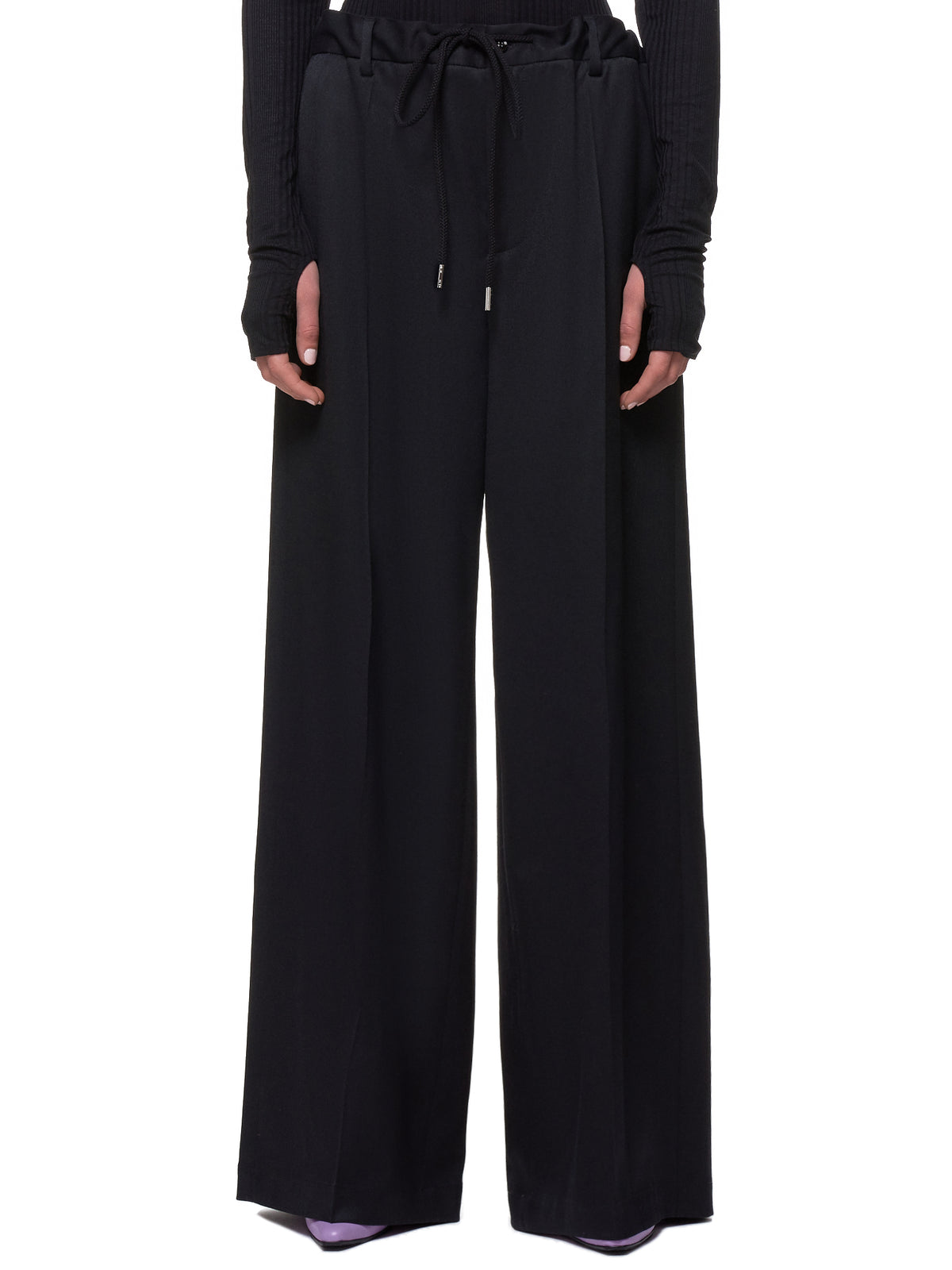 Cinch-Waist Trousers (S52KA0205-S47848-BLACK)