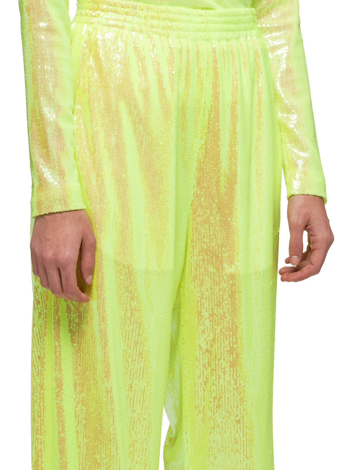 Sequined Trousers (S52KA0251-S52529-172-YELLOW)