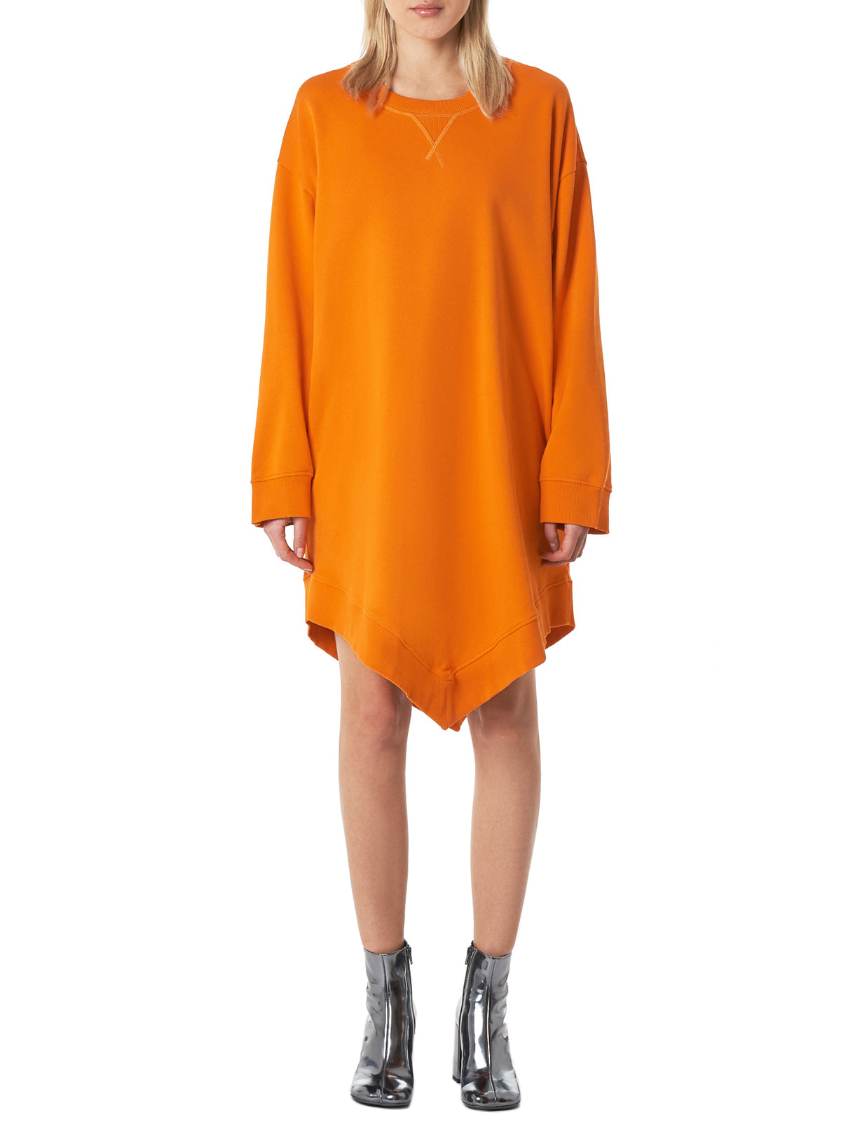 Pointed-Hem Pullover (S52T0396-ORANGE)