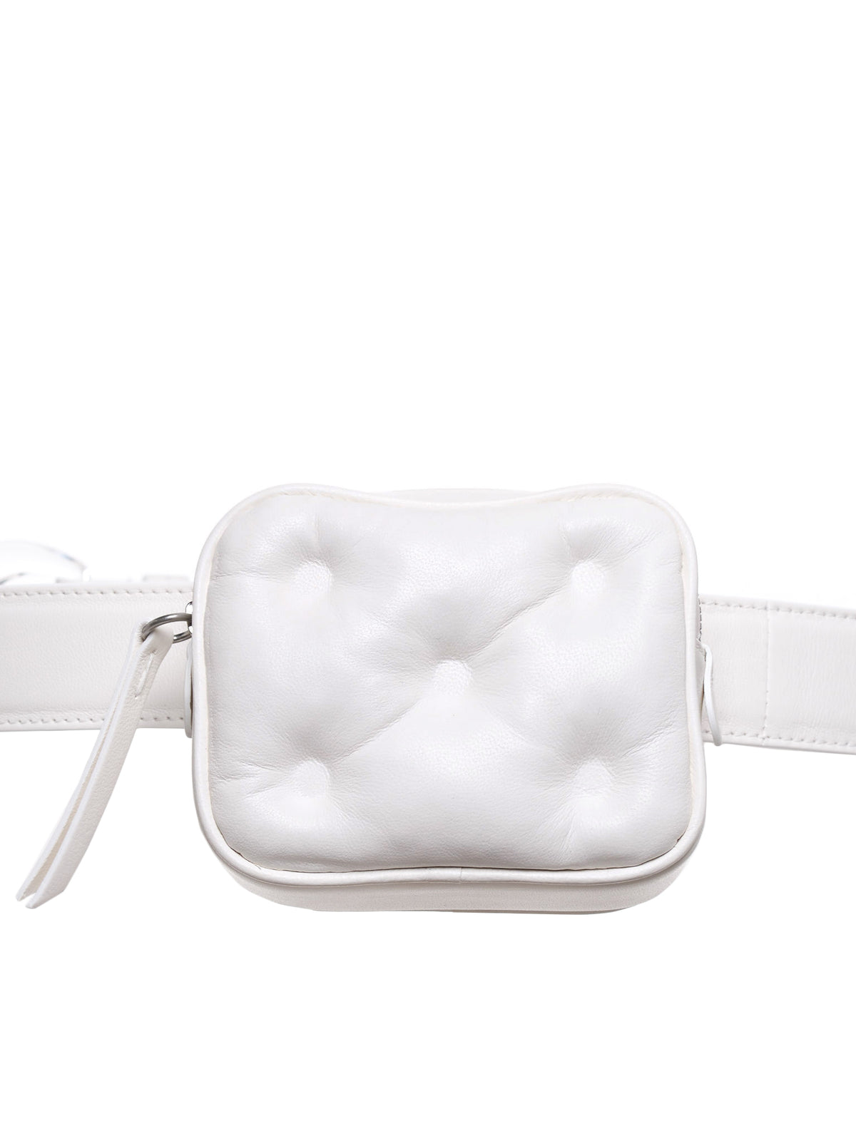 Glam Slam Padded Leather Belt Bag (S56WB0013-PR818-T1003-WHITE)