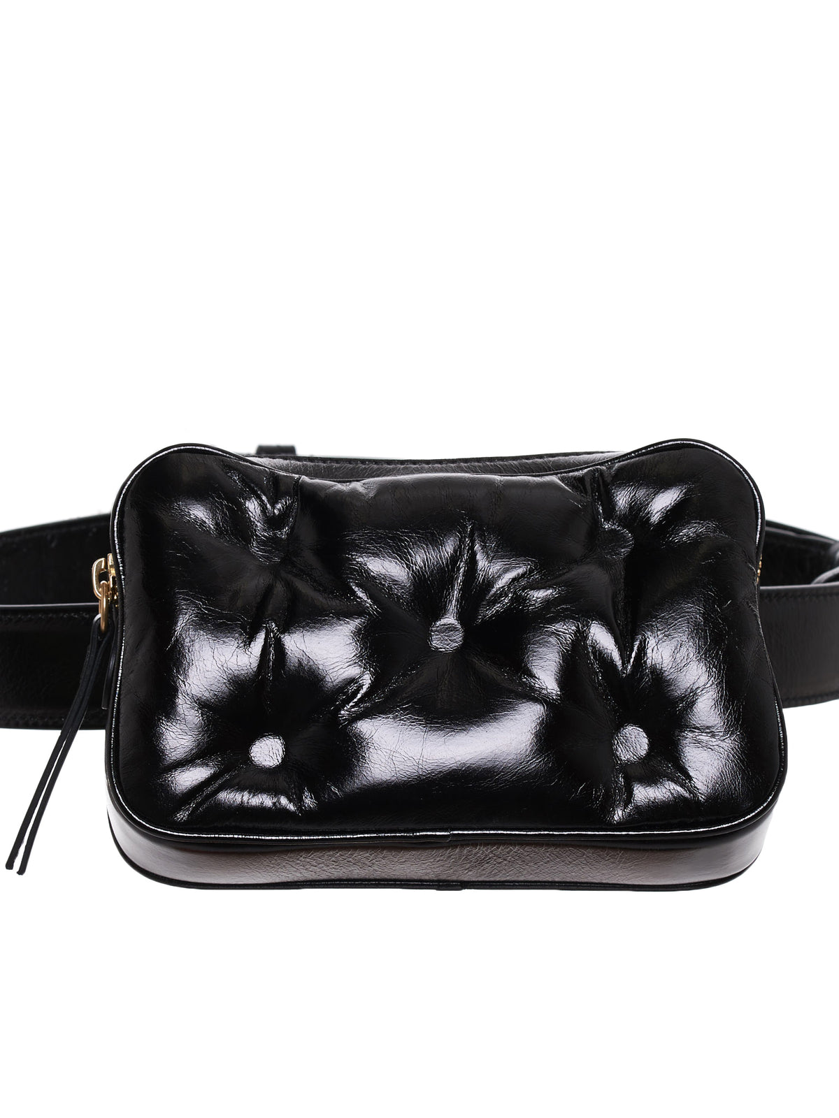 Glam Slam Padded Leather Belt Bag (S56WB0012-PS298-T8013-BLACK)